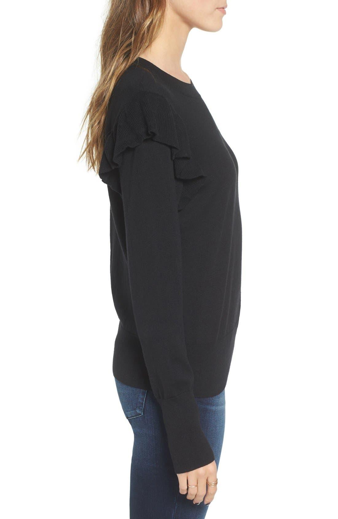 Alternate Image 3  - BP. Knit Ruffle Sleeve Pullover