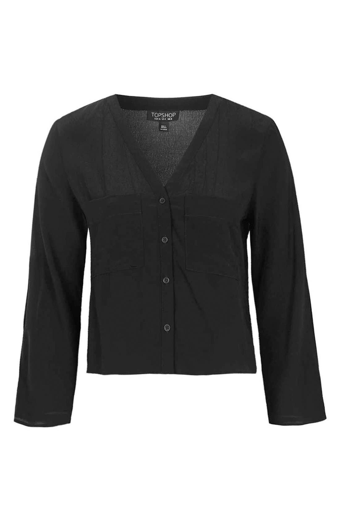 Alternate Image 4  - Topshop Split Sleeve Shirt