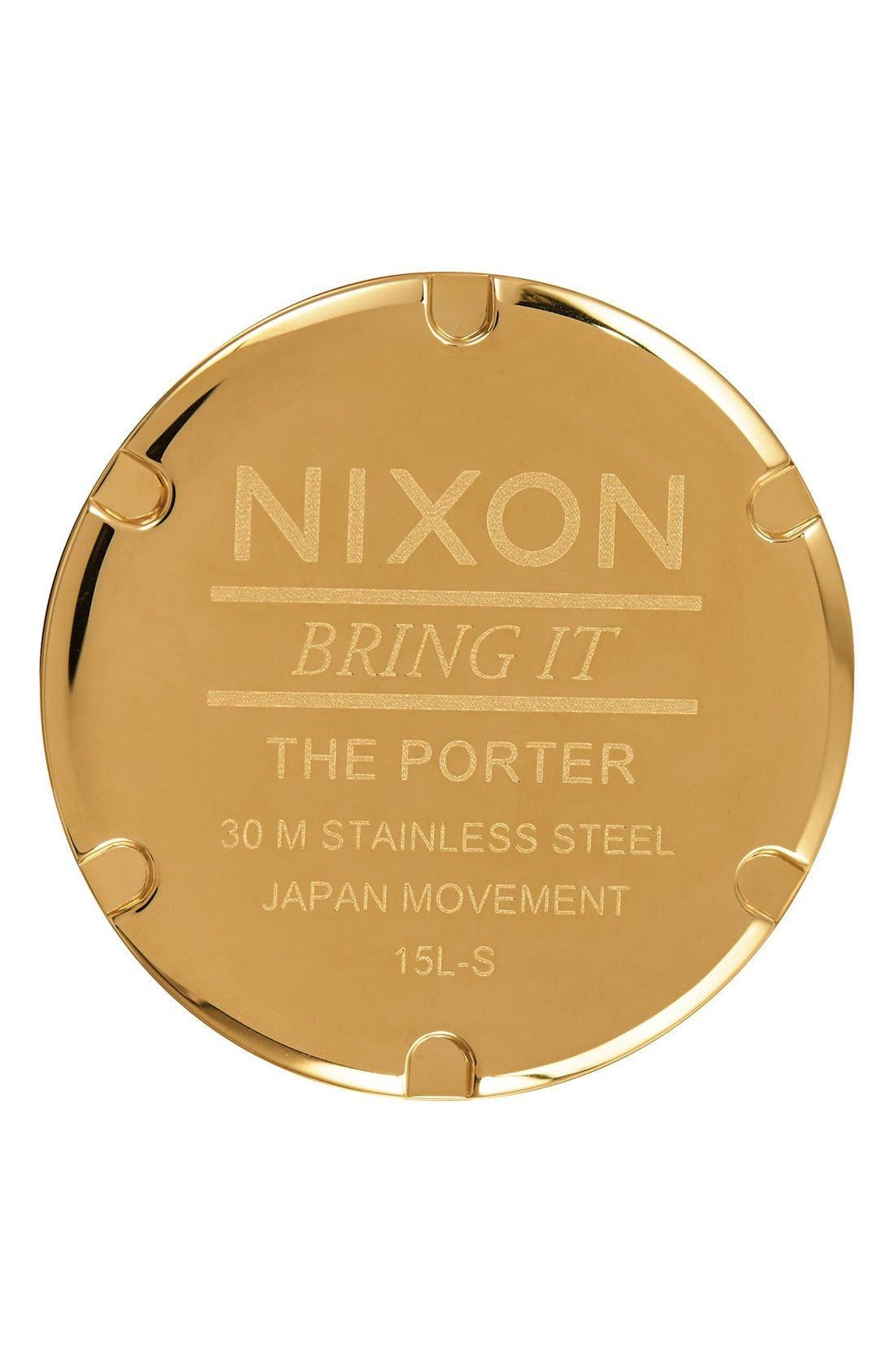 The Porter Nylon Strap Watch, 40mm,                             Alternate thumbnail 4, color,                             Red/ White/ Blue/ Gold