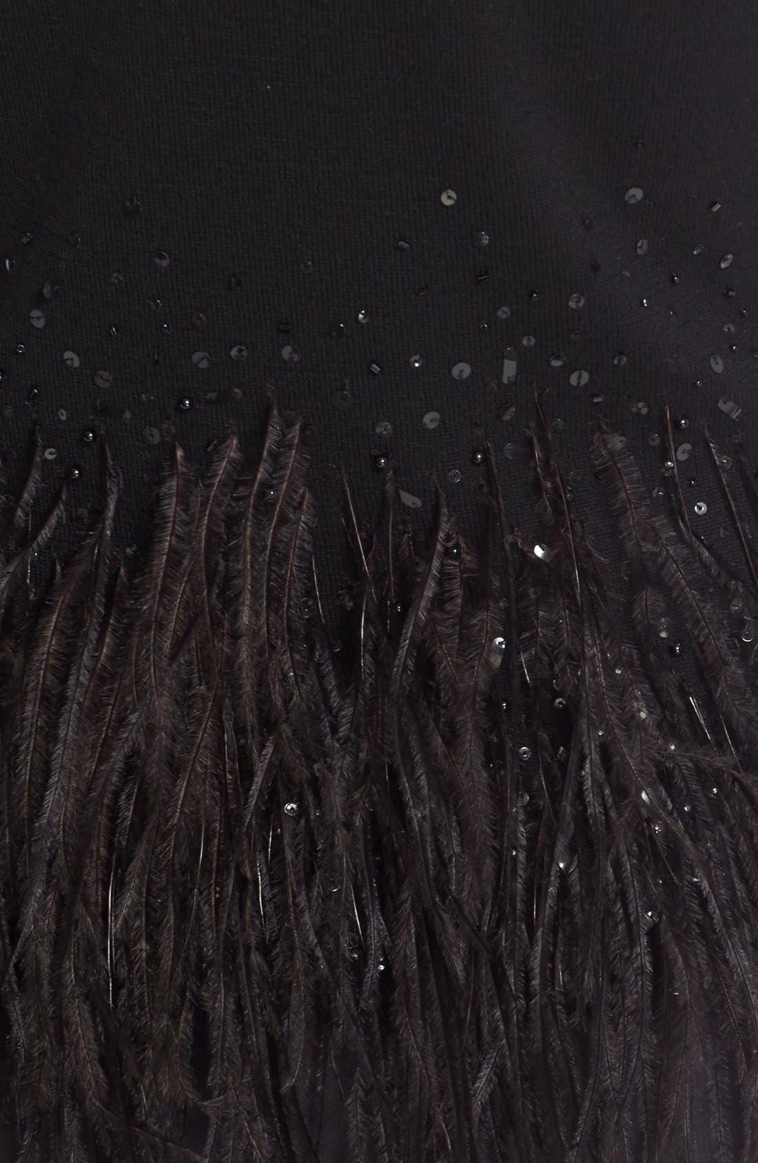 Alternate Image 3  - Carolina Herrera Sequin & Feather Trim Wool Sweater