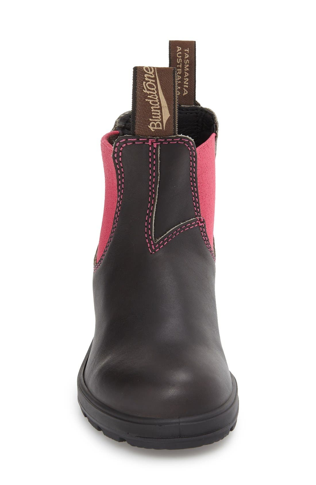 Footwear 'Original - 500 Series' Water Resistant Chelsea Boot,                             Alternate thumbnail 3, color,                             Stout Brown/ Pink Leather