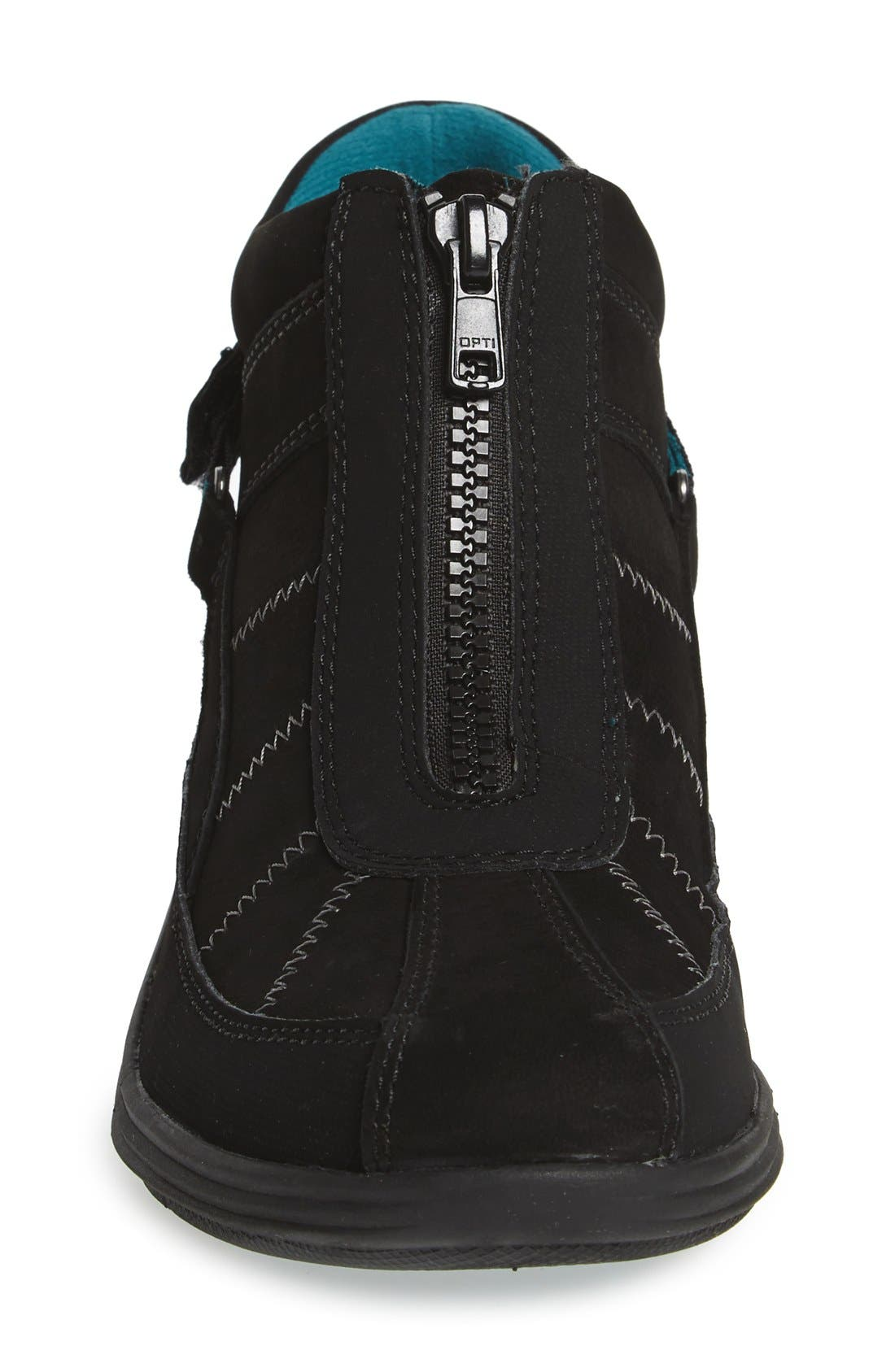 'Beverly' Waterproof Midi Sneaker,                             Alternate thumbnail 3, color,                             Black Leather