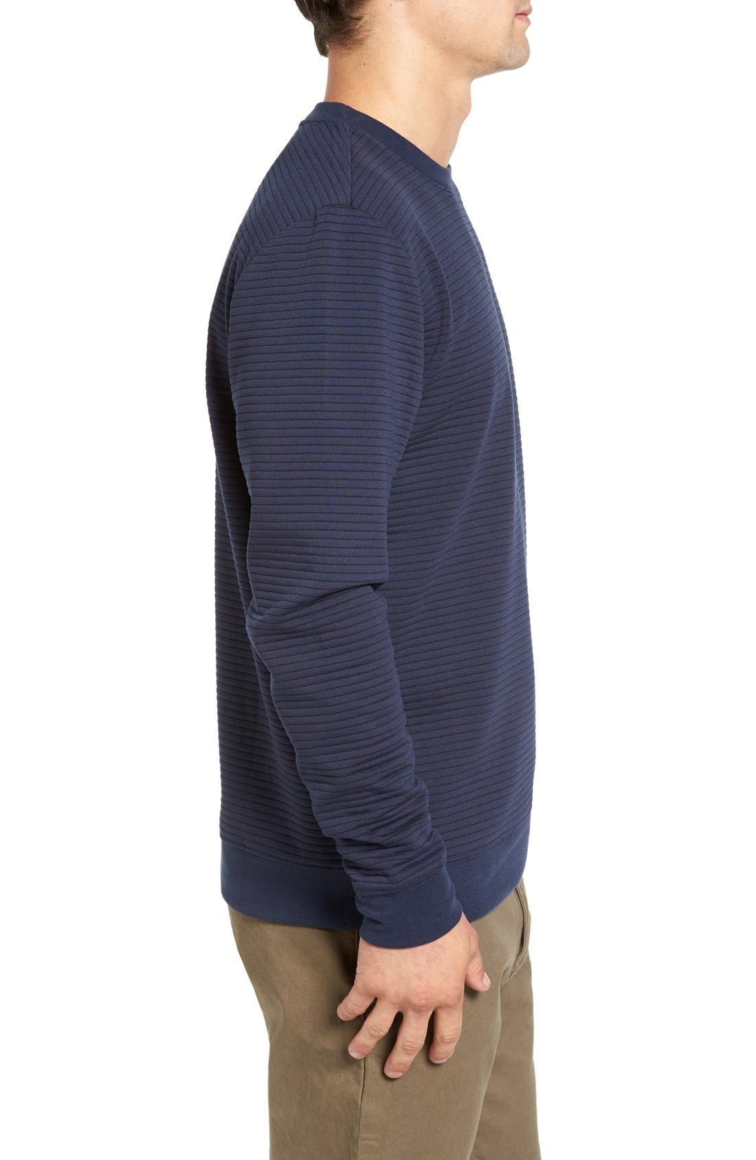 Stripe Pullover,                             Alternate thumbnail 3, color,                             Dark Blue Royal