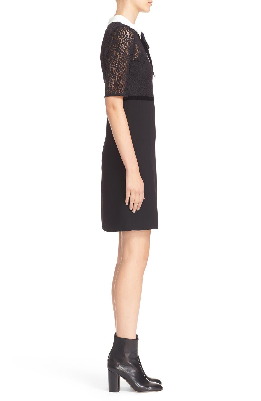 Alternate Image 3  - The Kooples Lace Overlay Crepe Dress