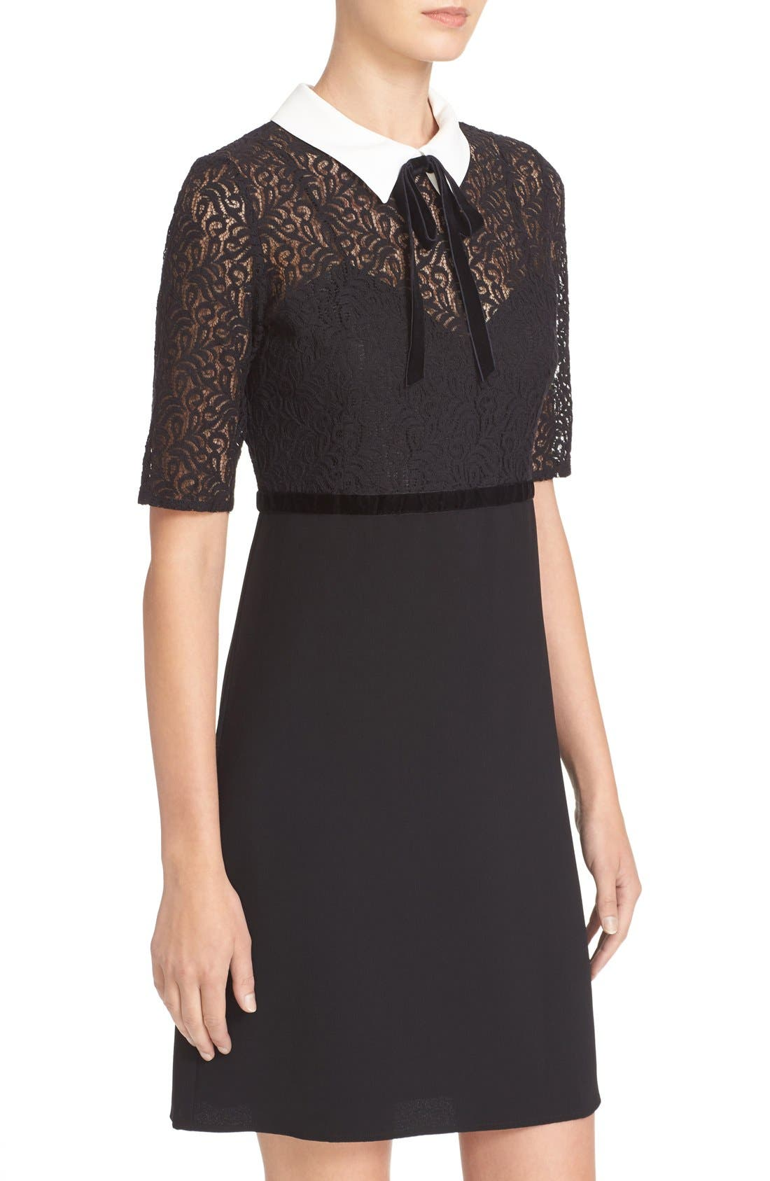 Alternate Image 4  - The Kooples Lace Overlay Crepe Dress