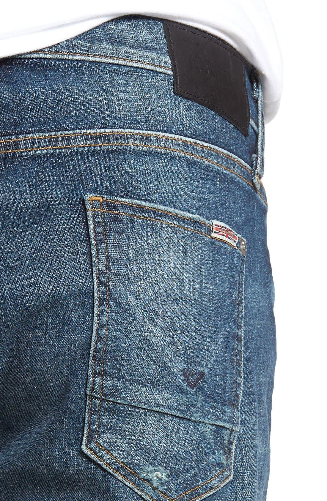 Alternate Image 4  - Hudson Jeans Sartor Slouchy Skinny Fit Jeans (Deserter)