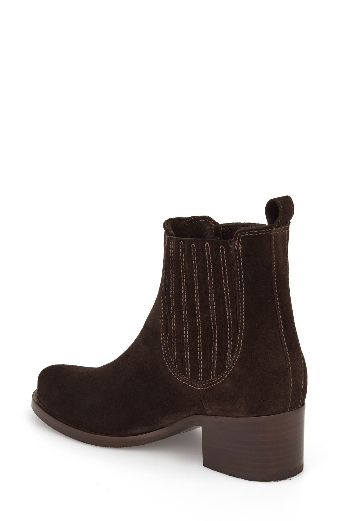 Prince Waterproof Bootie,                             Alternate thumbnail 2, color,                             Brown Suede