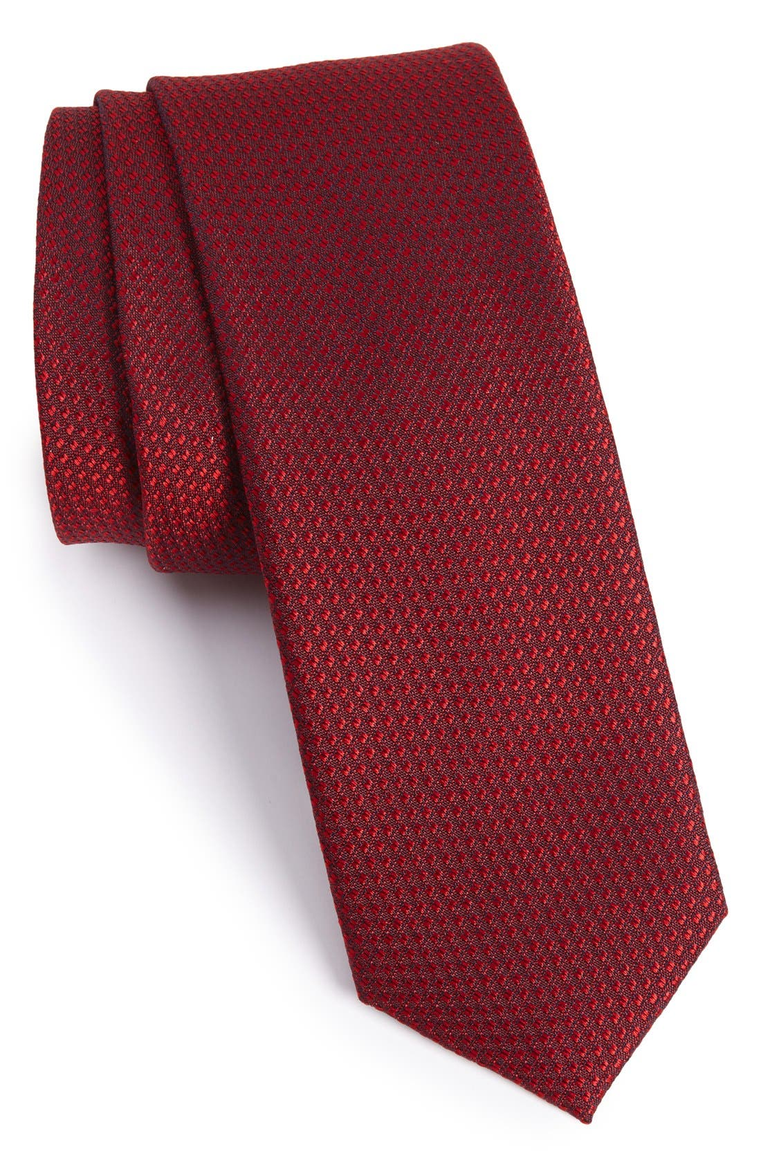 Seattle Textured Silk Tie,                             Main thumbnail 1, color,                             Burgundy