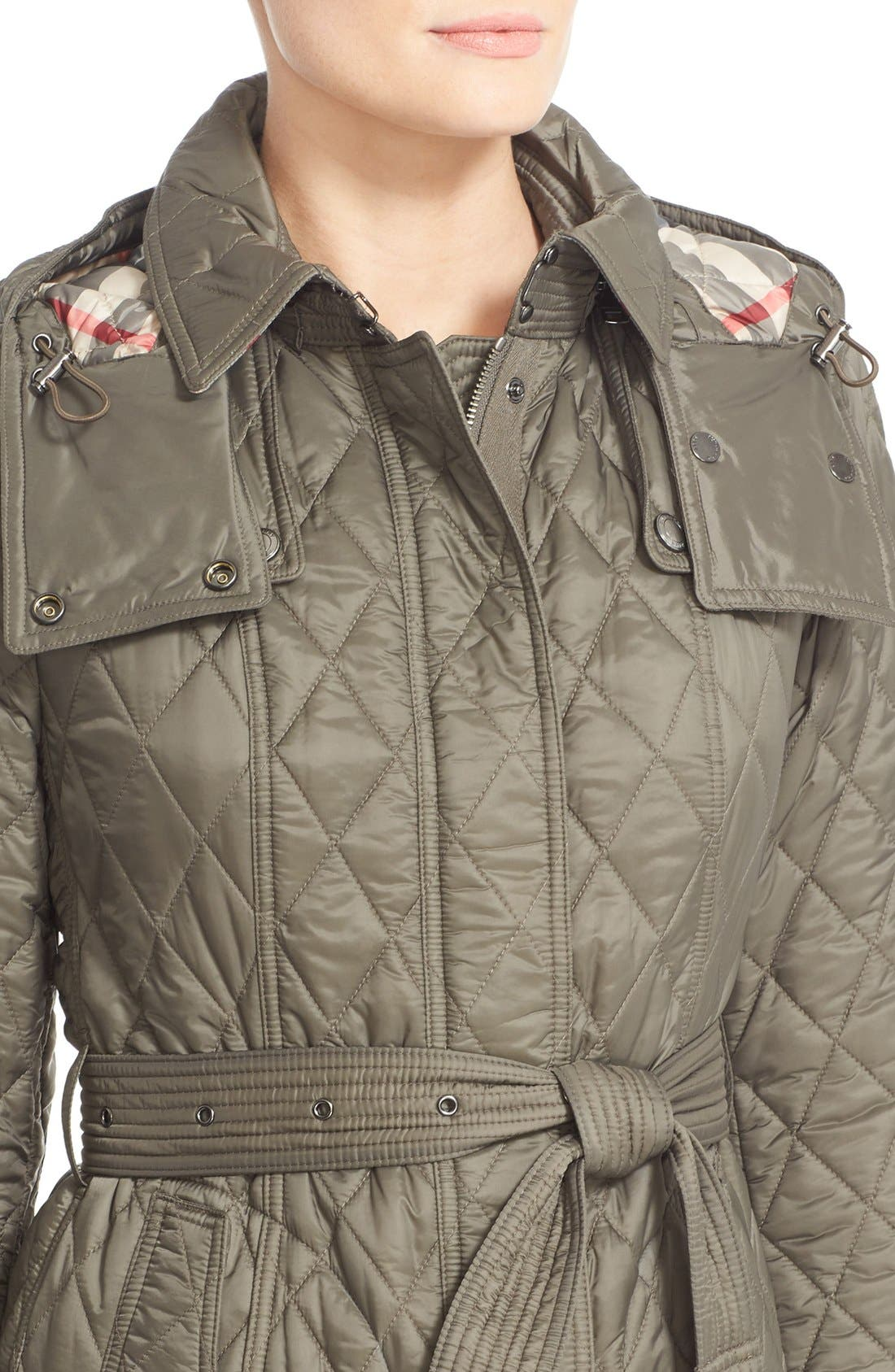 Alternate Image 6  - Burberry Finsbridge Belted Quilted Jacket