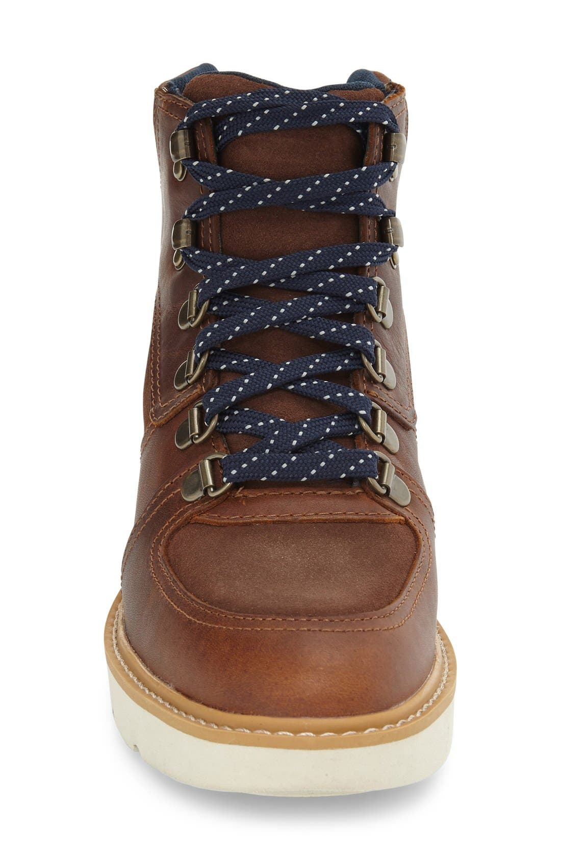 'Kenniston' Lace-Up Boot,                             Alternate thumbnail 3, color,                             Tobacco Leather