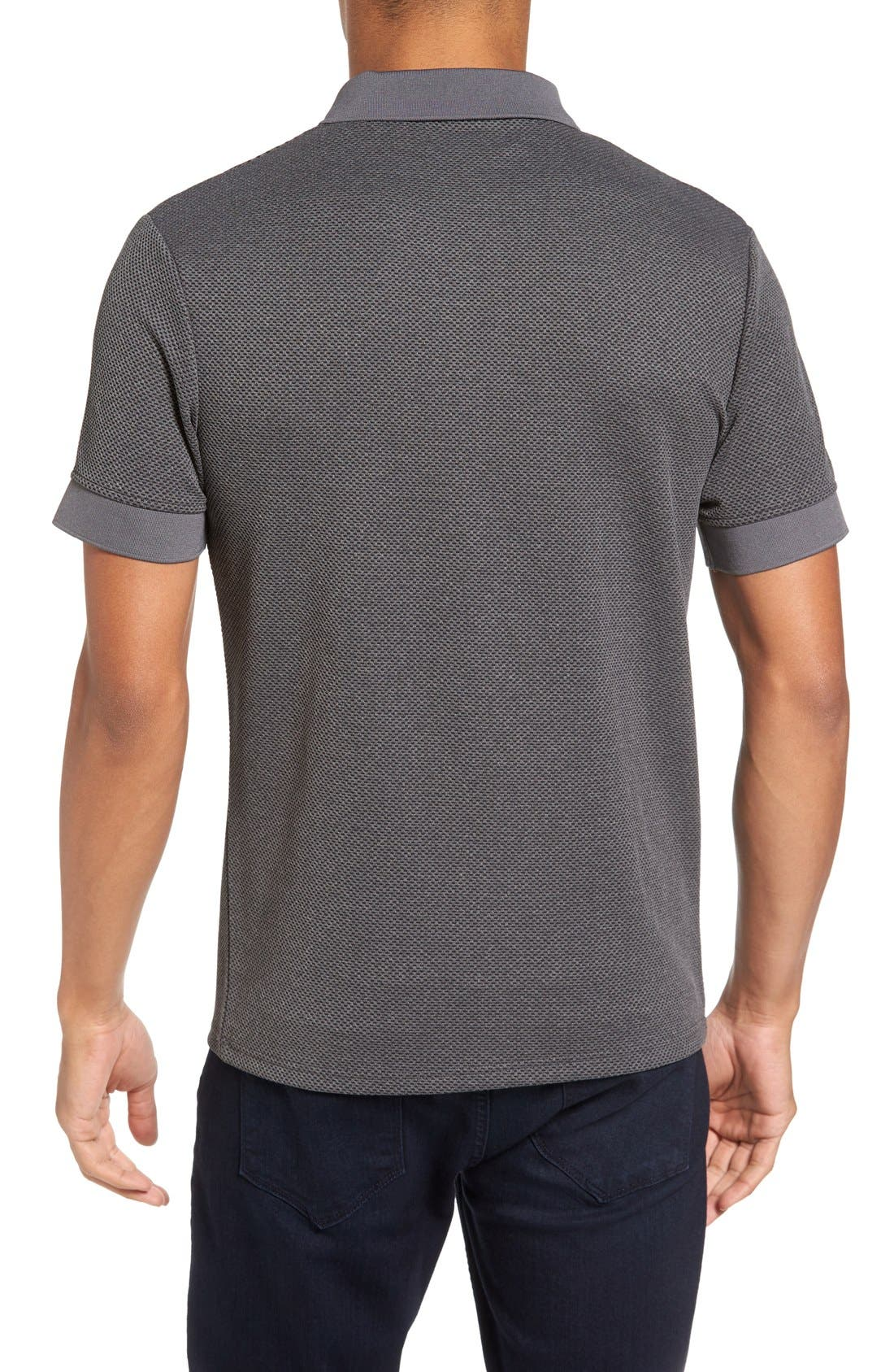 Alternate Image 2  - Vince Camuto Slim Fit Mesh Polo
