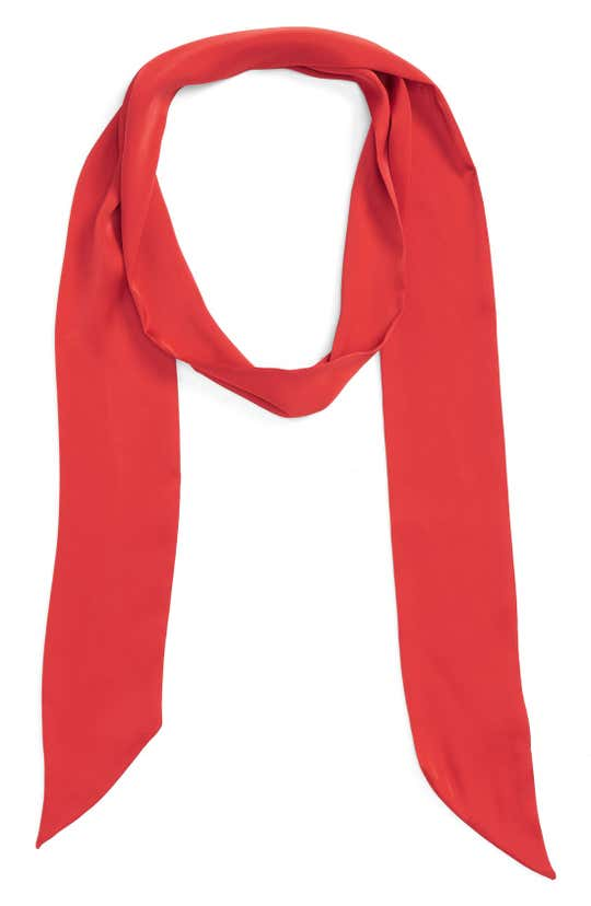 red skinny scarf