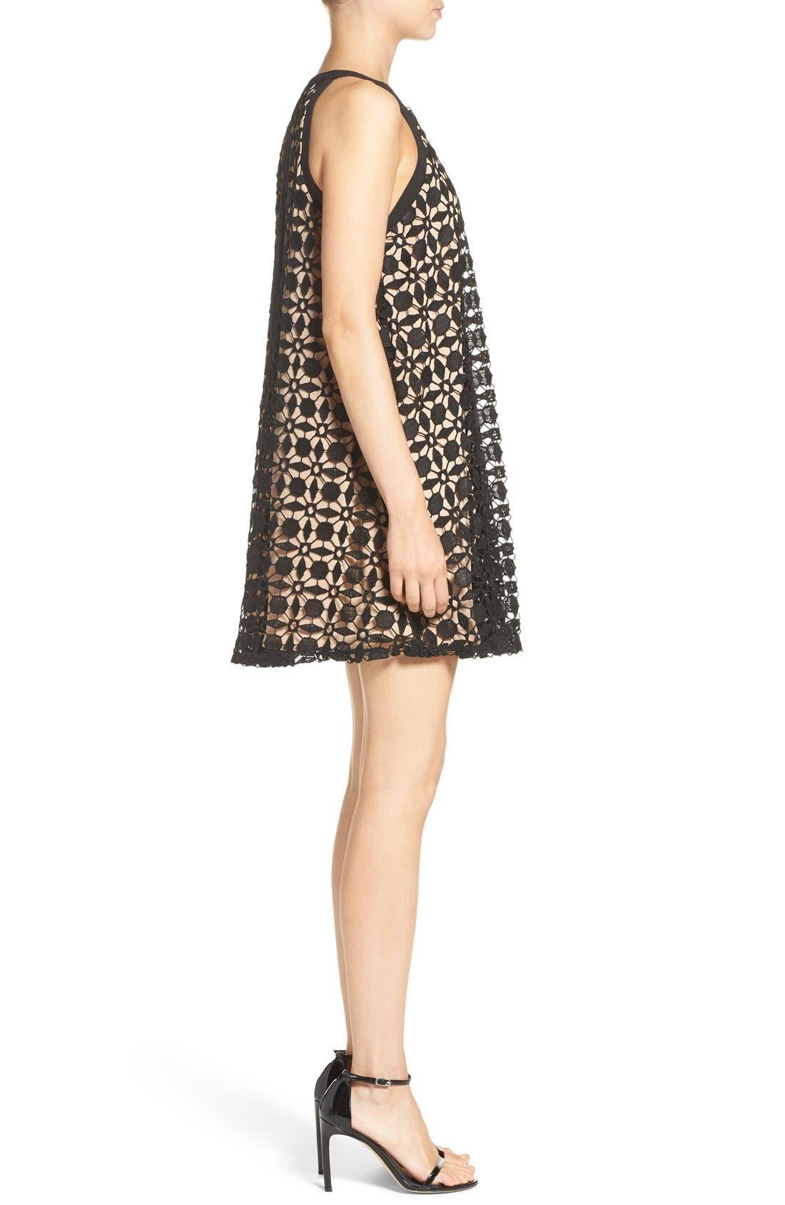 Alternate Image 3  - Chelsea28 Lace Trapeze Dress