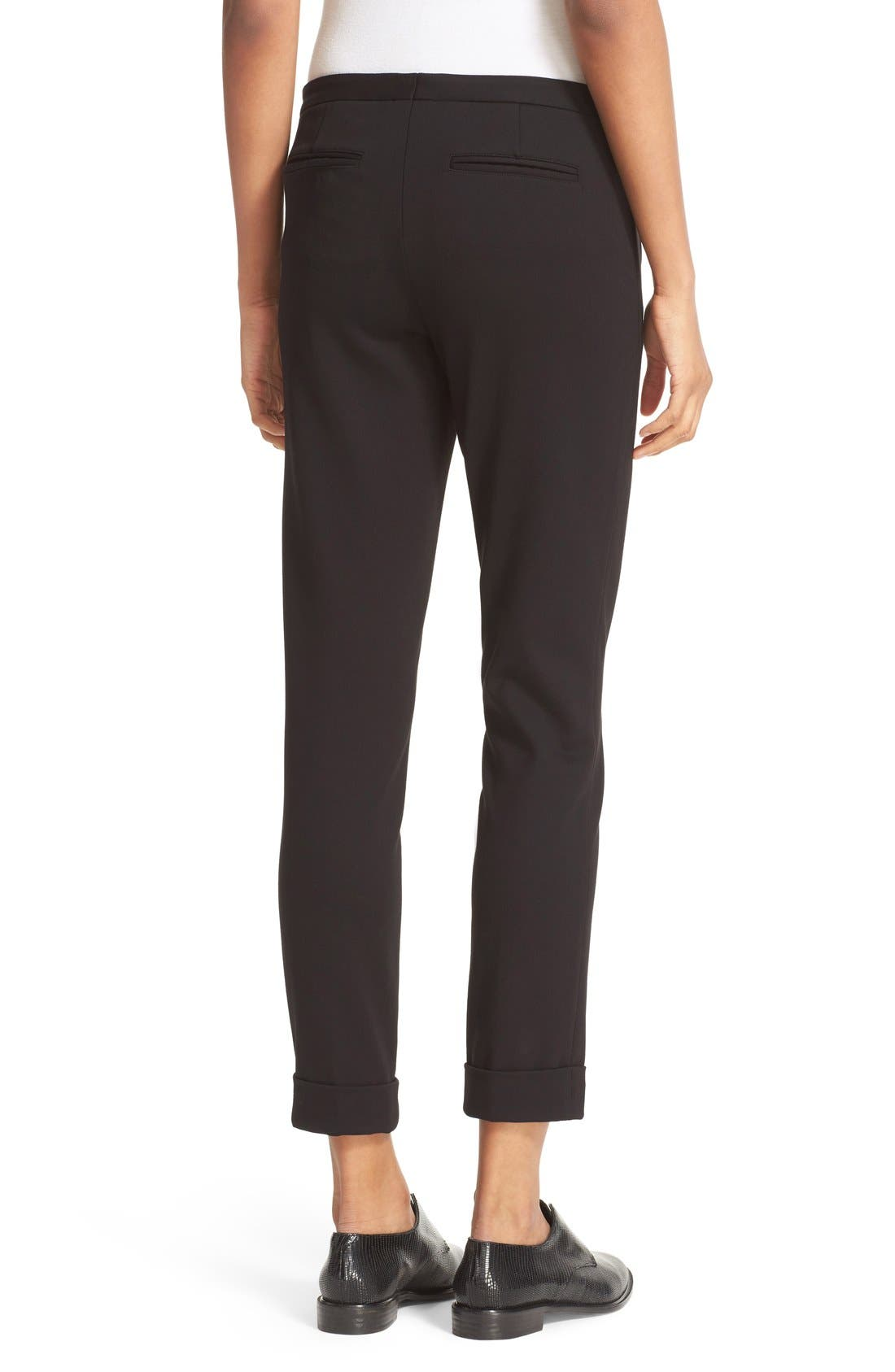 Slim Crop Pants,                             Alternate thumbnail 2, color,                             Black