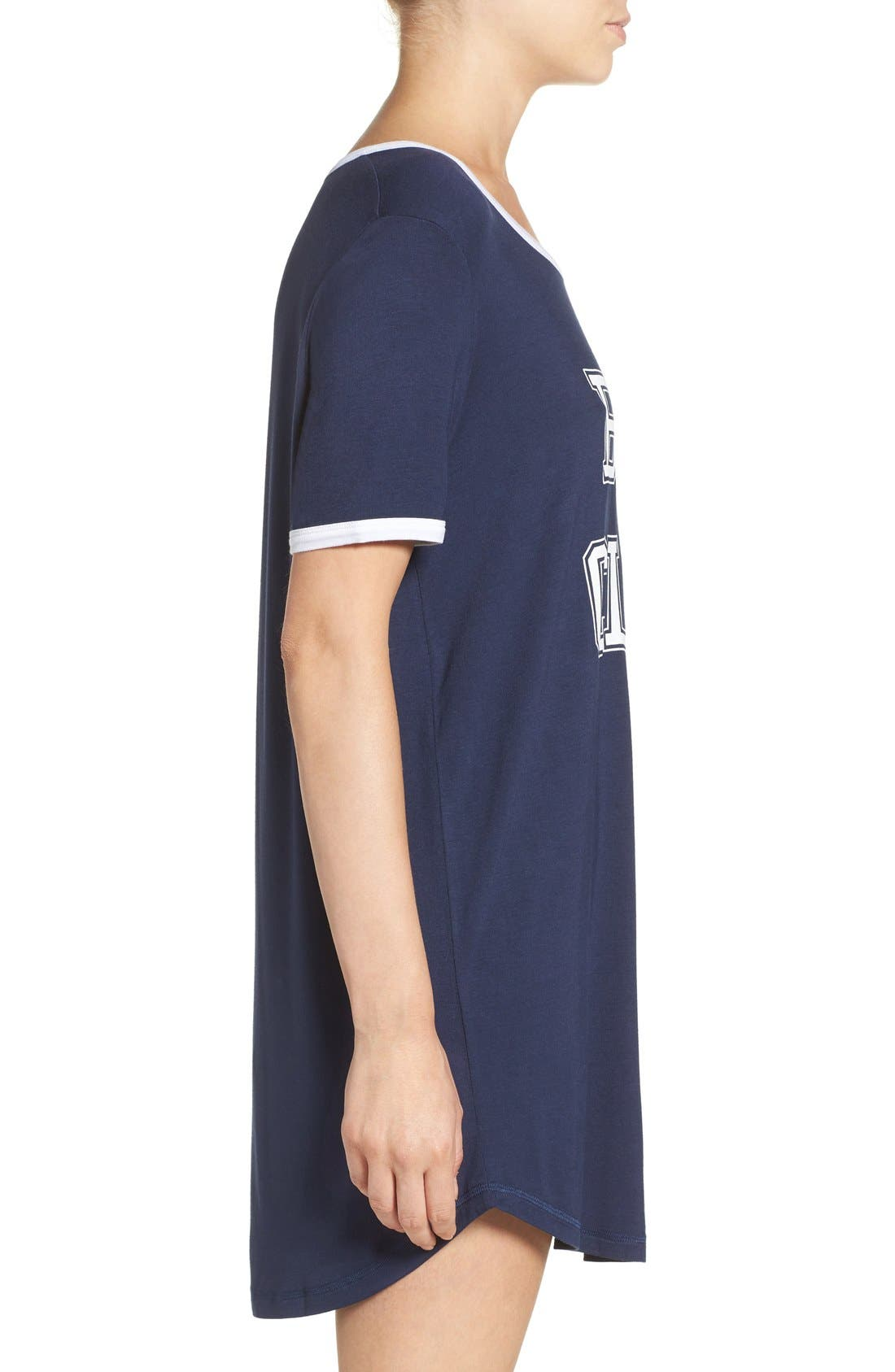Alternate Image 3  - COZY ZOE Graphic Jersey Sleep Shirt