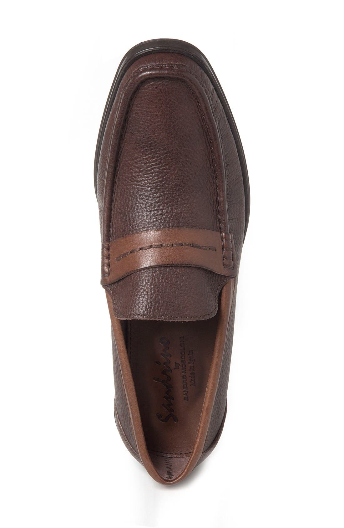 Duero Loafer,                             Alternate thumbnail 3, color,                             Brown Leather