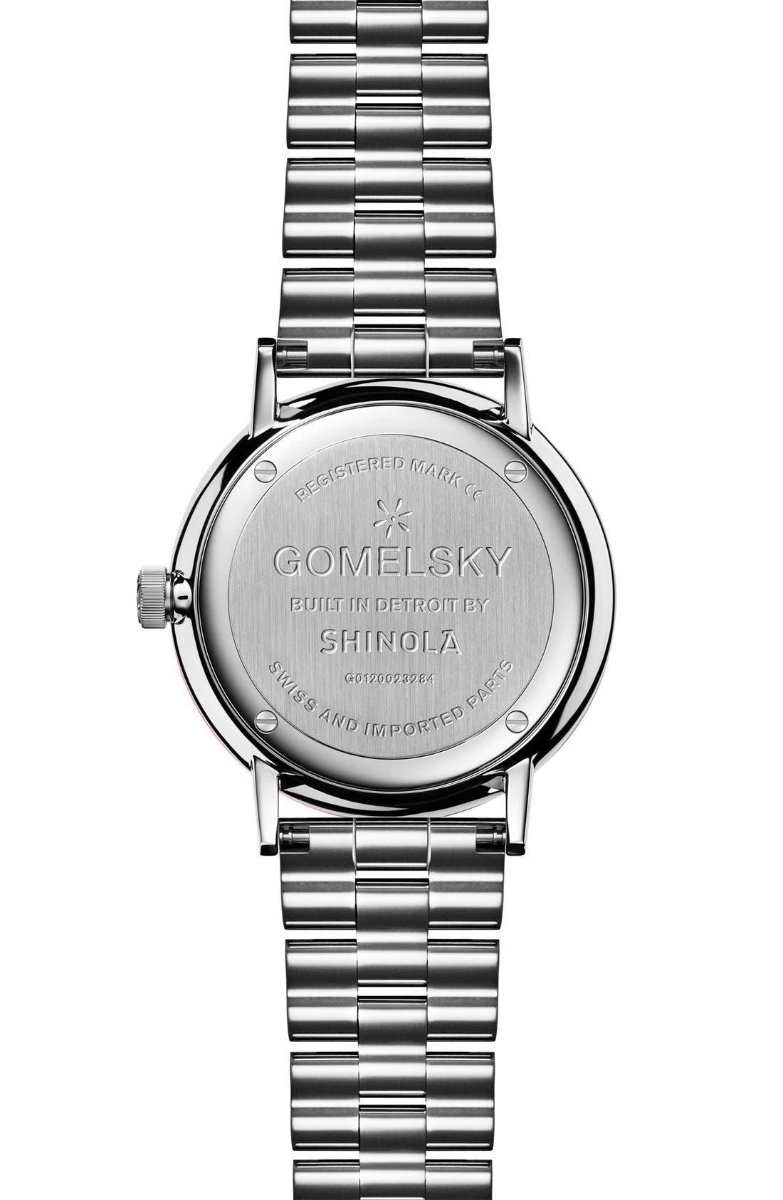 The Agnes Varis Bracelet Watch, 32mm,                             Alternate thumbnail 2, color,                             Silver/ Gold Opaline