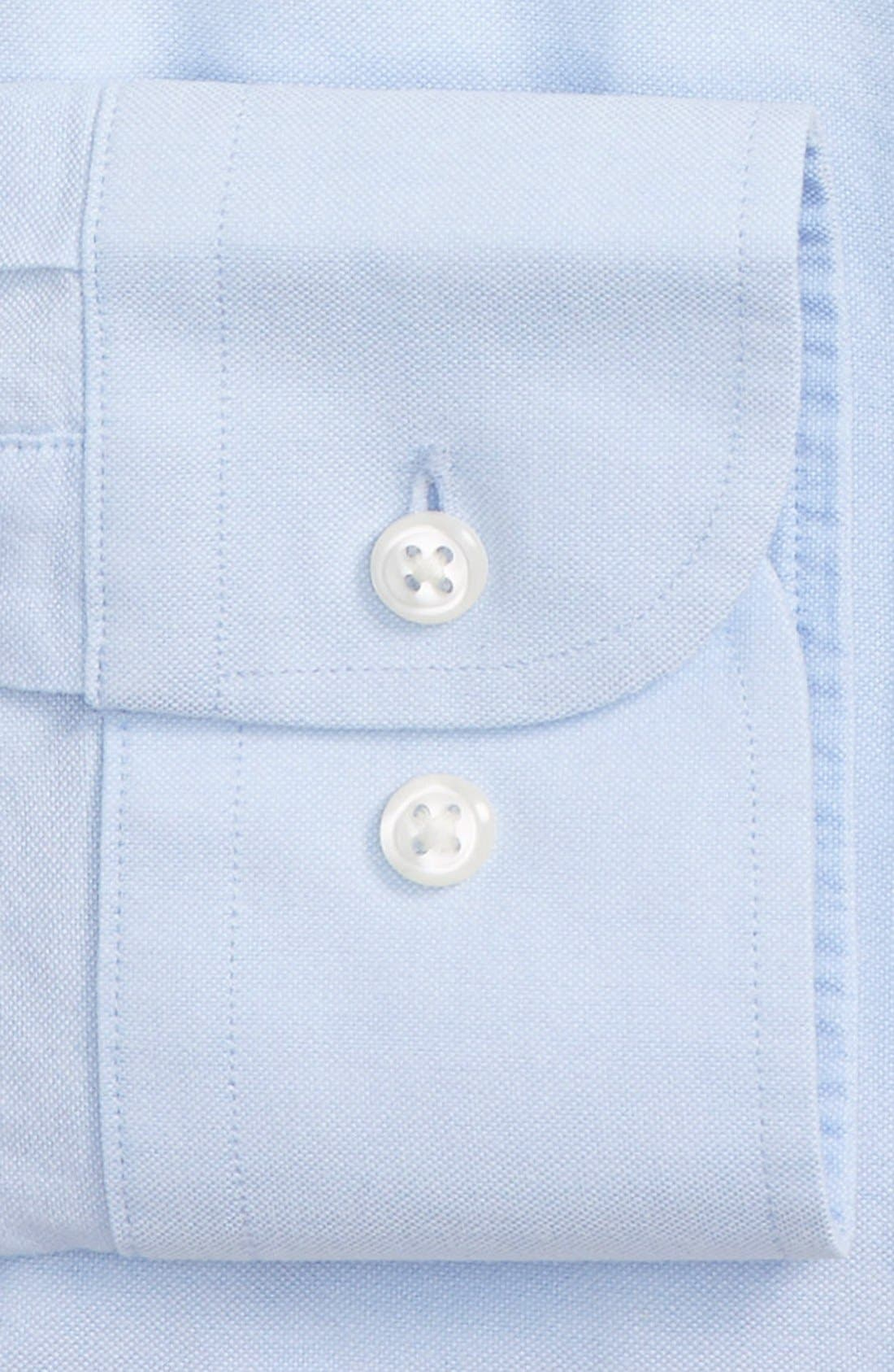 Trim Fit Solid Oxford Dress Shirt,                             Alternate thumbnail 4, color,                             Blue Grapemist