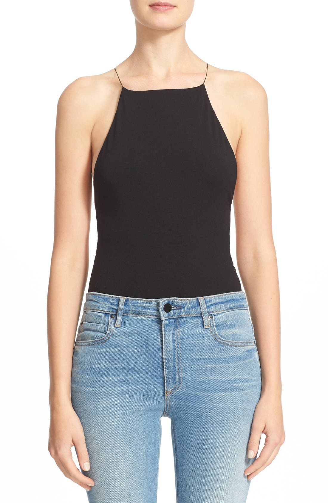 Alternate Image 1 Selected - T by Alexander Wang Stretch Modal Bodysuit