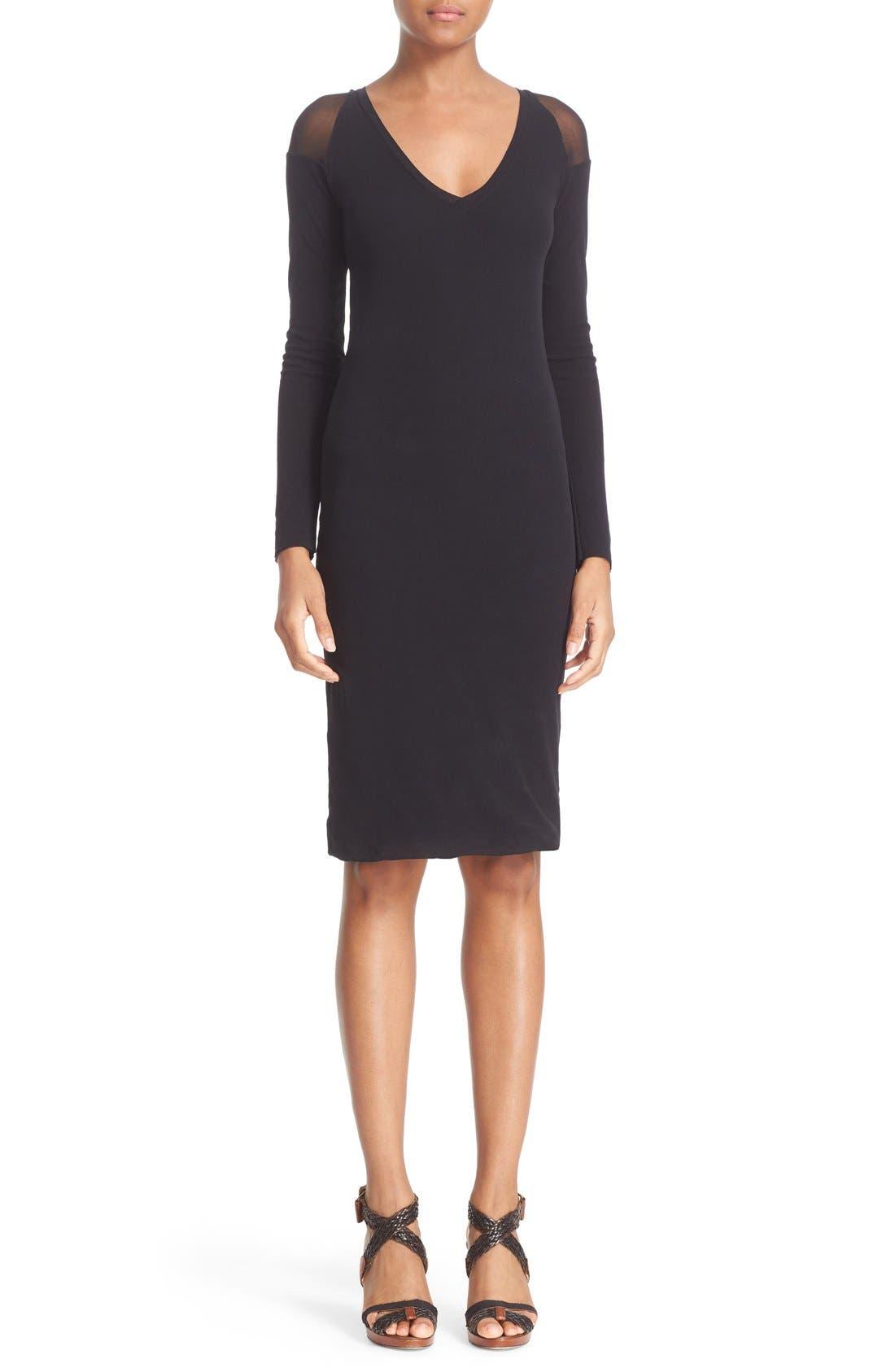 Alternate Image 1 Selected - Fuzzi Illusion Cold Shoulder Sheath Dress