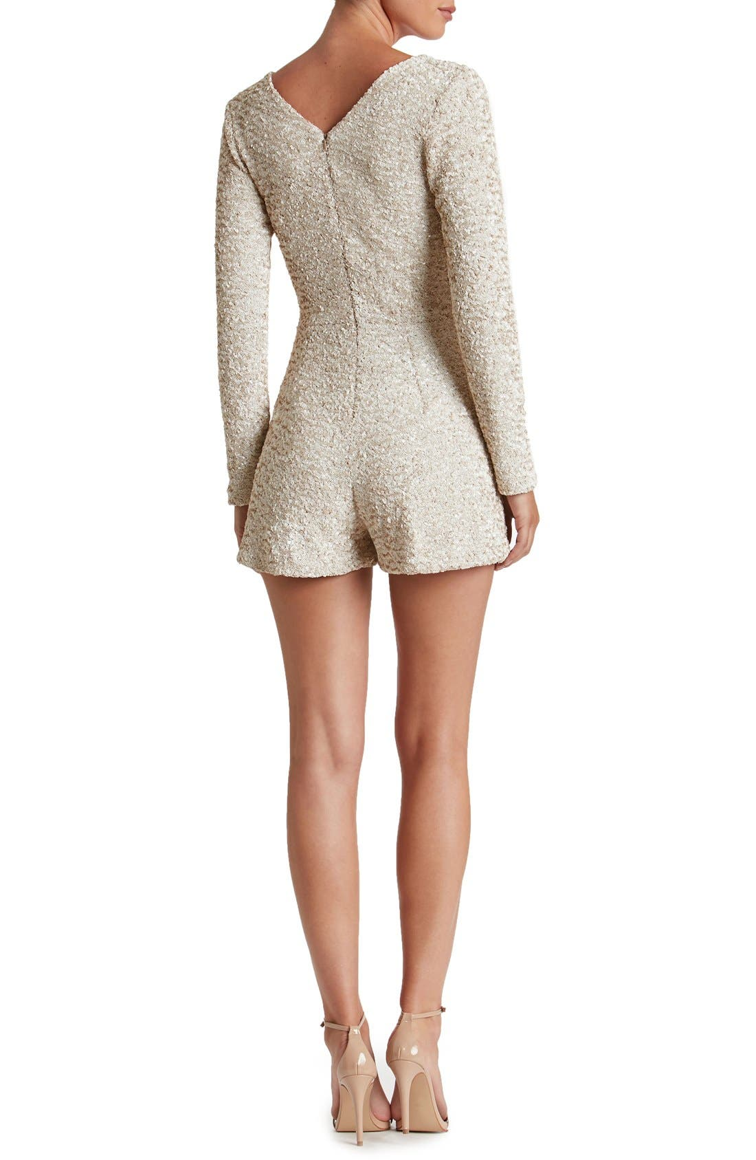 Alternate Image 2  - Dress the Population Bianca Sequin Romper