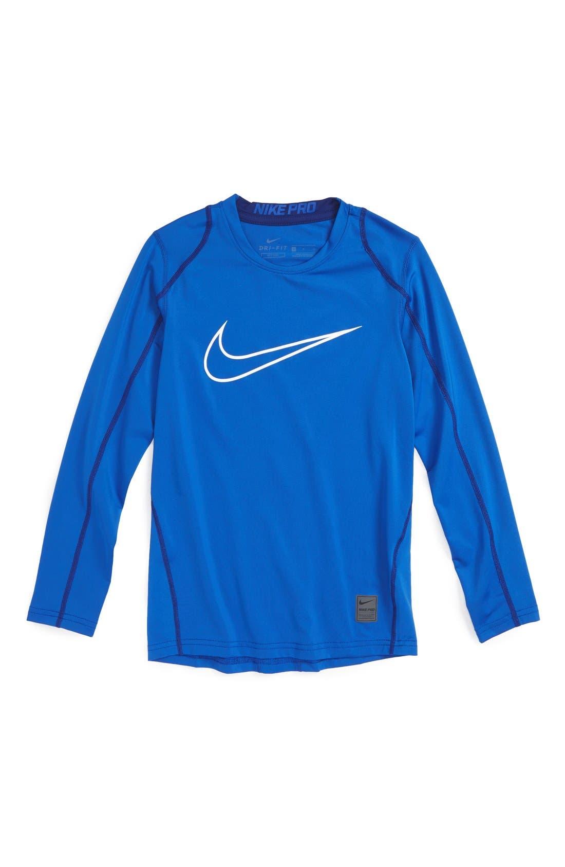 Cool Dri-FIT T-Shirt,                             Main thumbnail 1, color,                             Game Royal/ Deep Royal/ White