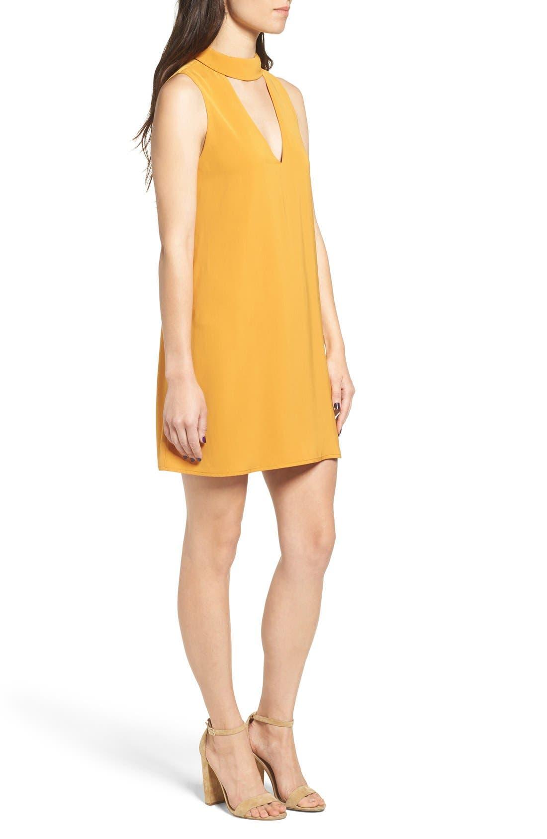 Alternate Image 3  - Cream and Sugar Cutout Front Mock Neck Shift Dress