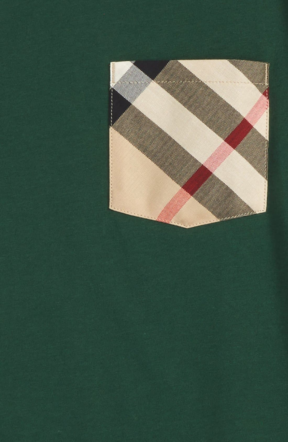 Check Pocket T-Shirt,                             Alternate thumbnail 2, color,                             Forest Green