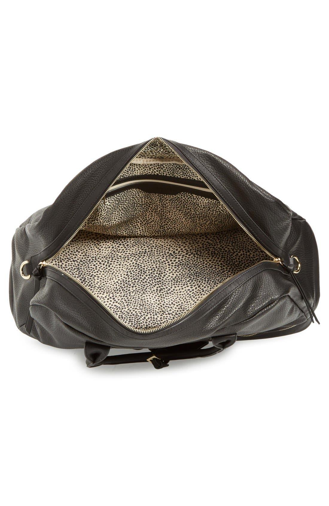 Mason Weekend Bag,                             Alternate thumbnail 4, color,                             Pebbled Black