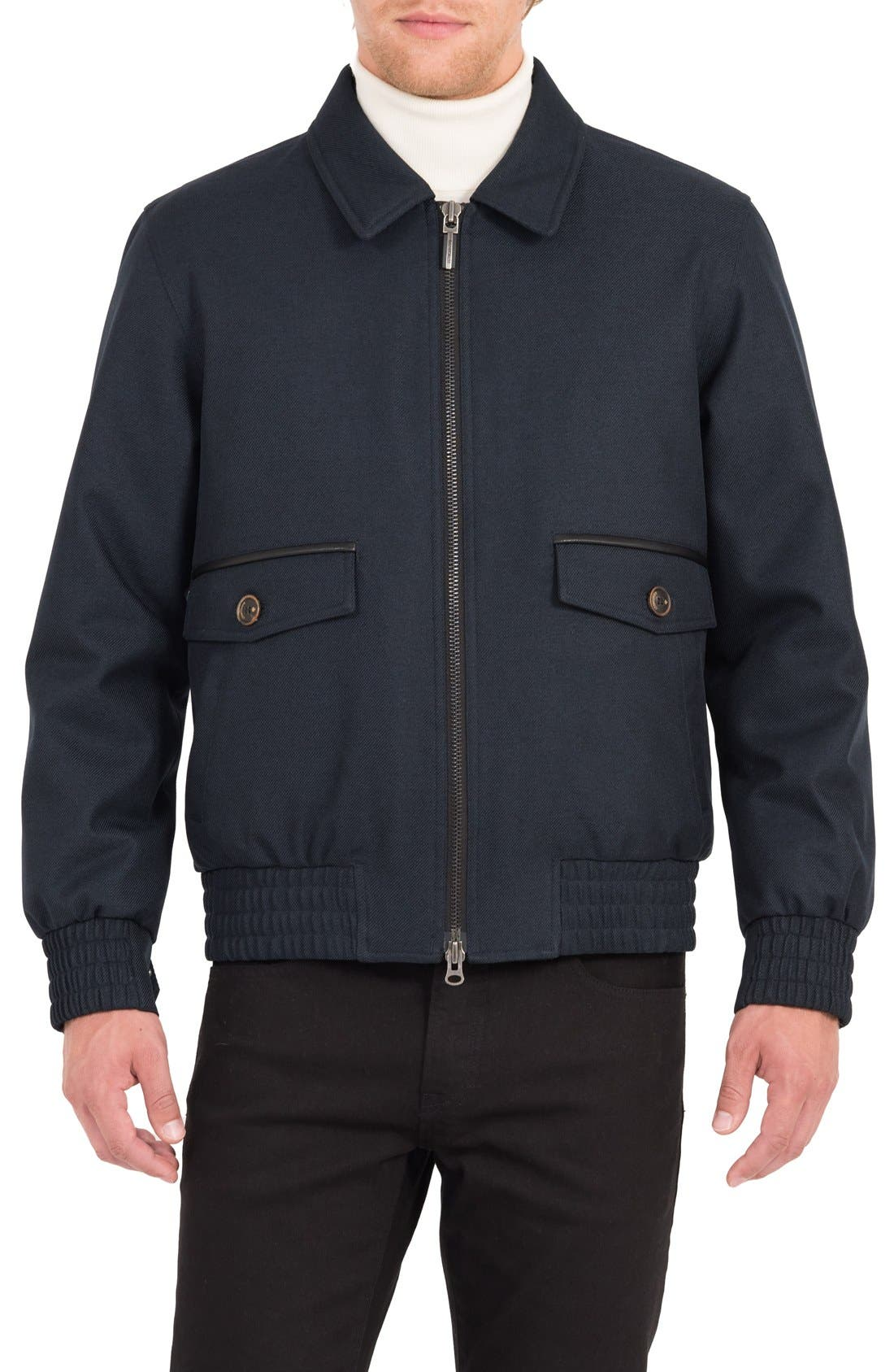 Cavalry Twill Bomber Jacket,                         Main,                         color, Ink