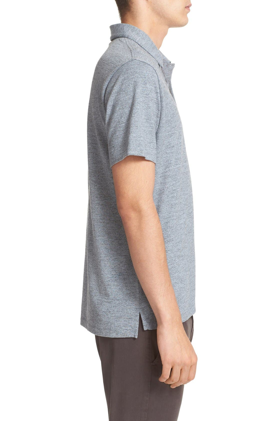 Alternate Image 3  - rag & bone Standard Issue Regular Fit Slub Cotton Polo