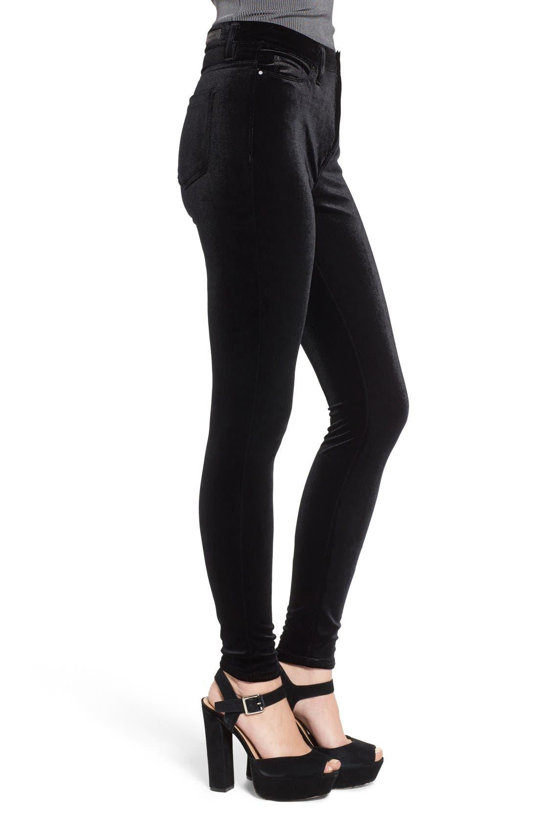 Alternate Image 3  - BLANKNYC Velvet High Rise Skinny Jeans