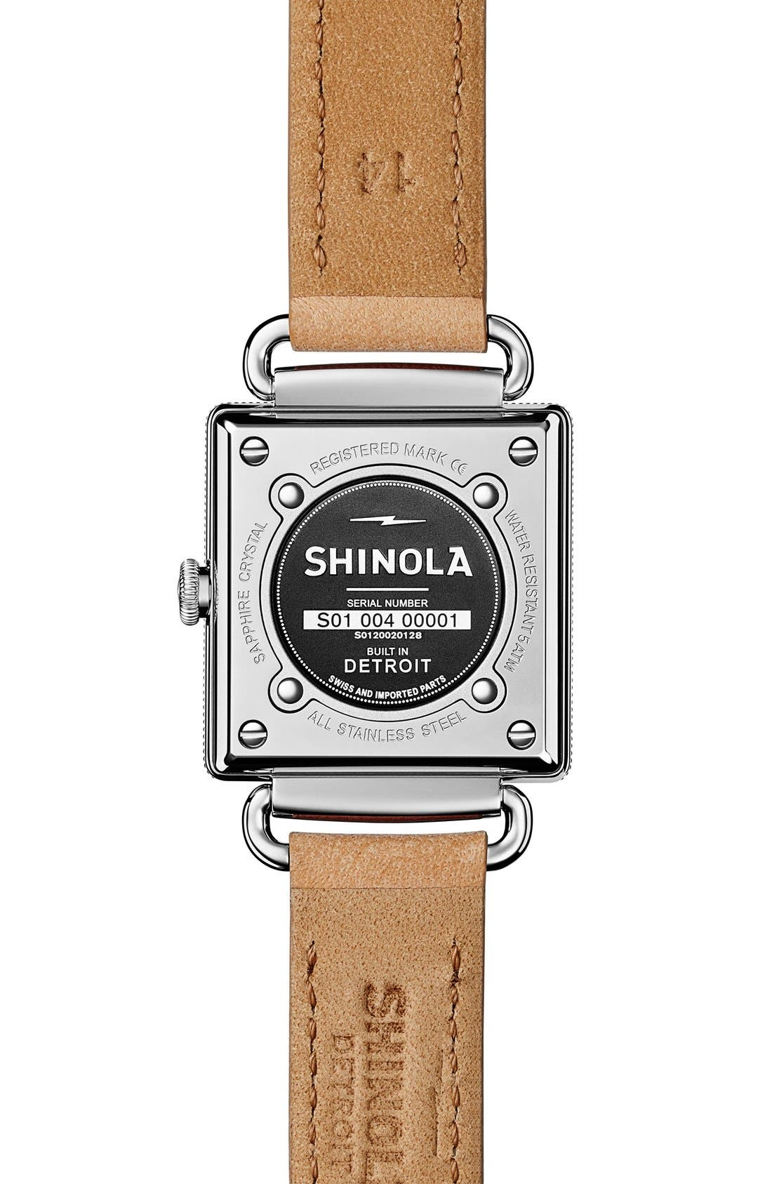 Alternate Image 3  - Shinola Cass Leather Strap Watch, 28mm