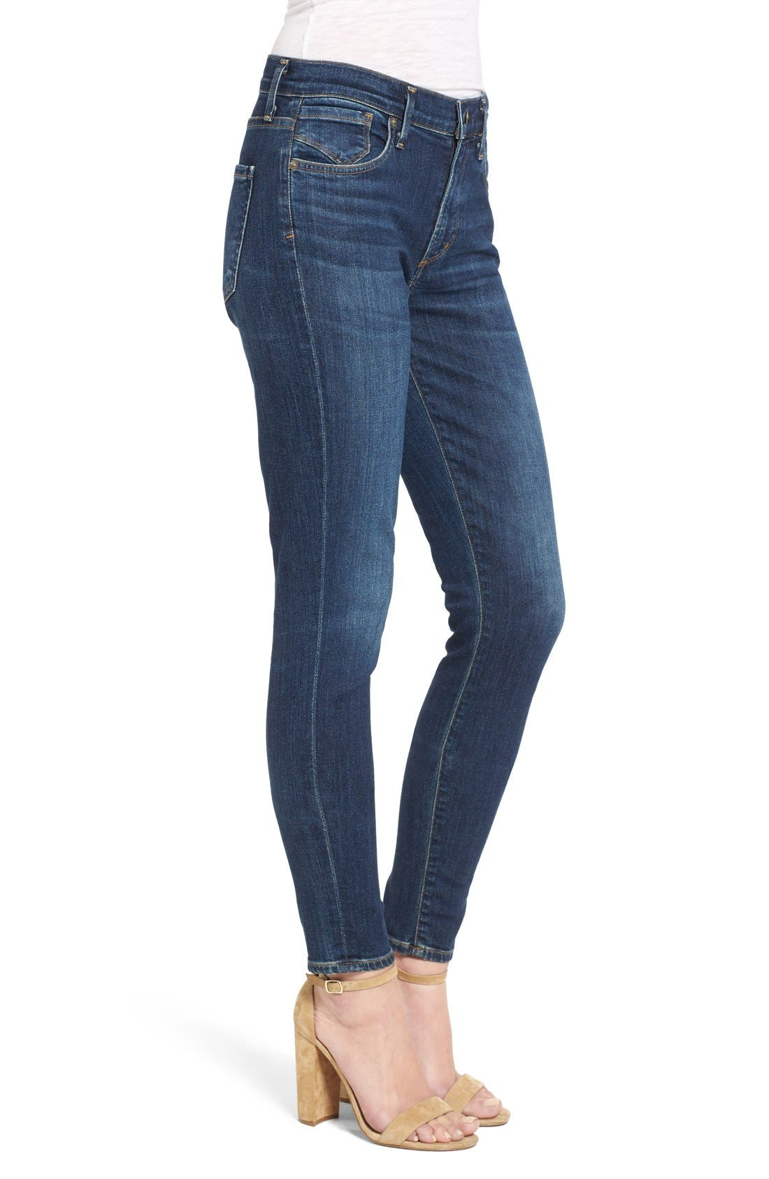 Sophie High Rise Ankle Skinny Jeans,                             Alternate thumbnail 3, color,                             Chamberlin