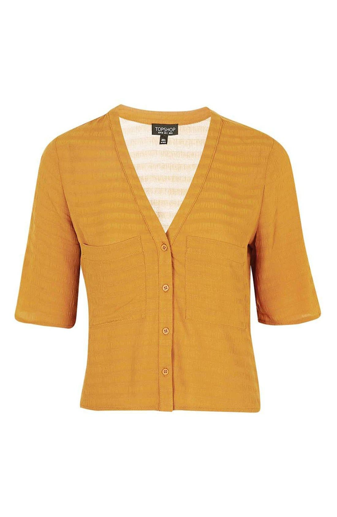 Alternate Image 5  - Topshop 'Holly' Short Sleeve V-Neck Shirt