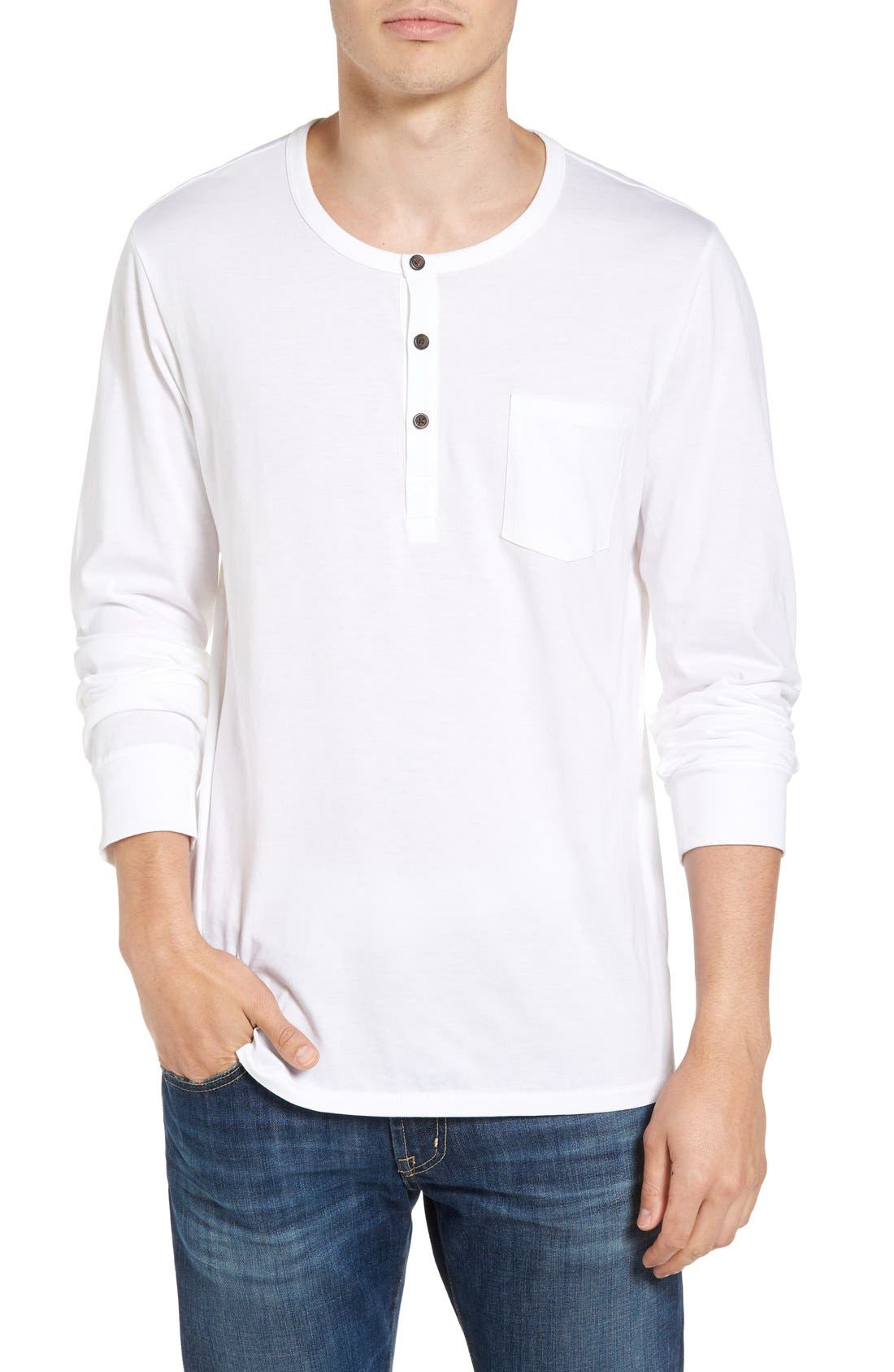 Classic Henley,                         Main,                         color, White