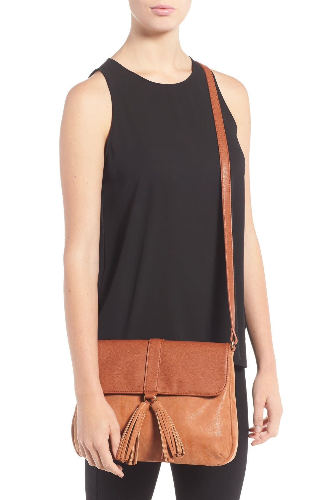 Alternate Image 2  - Sole Society Faux Leather Crossbody Bag