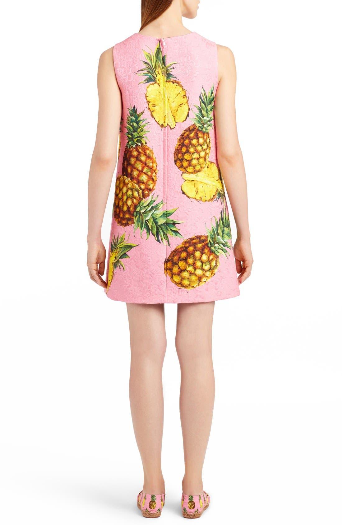 Alternate Image 2  - Dolce&Gabbana Pineapple Jacquard Shift Dress
