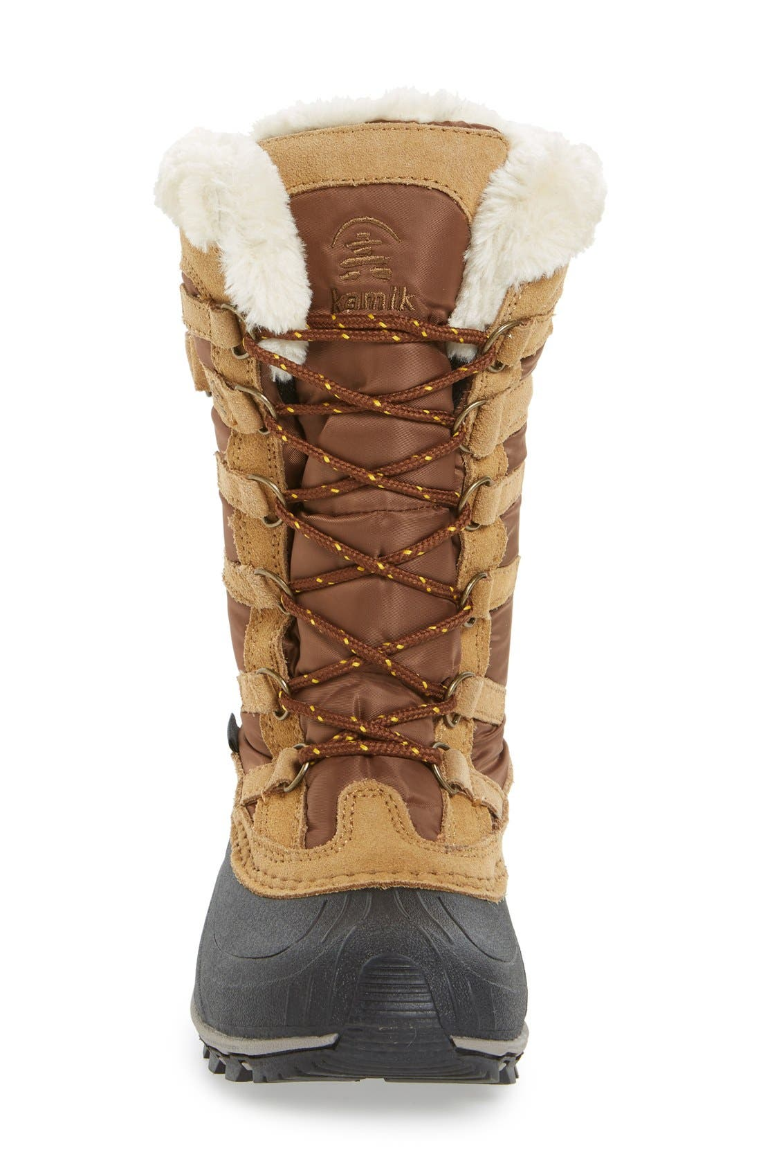Snowvalley Waterproof Boot with Faux Fur Cuff,                             Alternate thumbnail 3, color,                             Tan