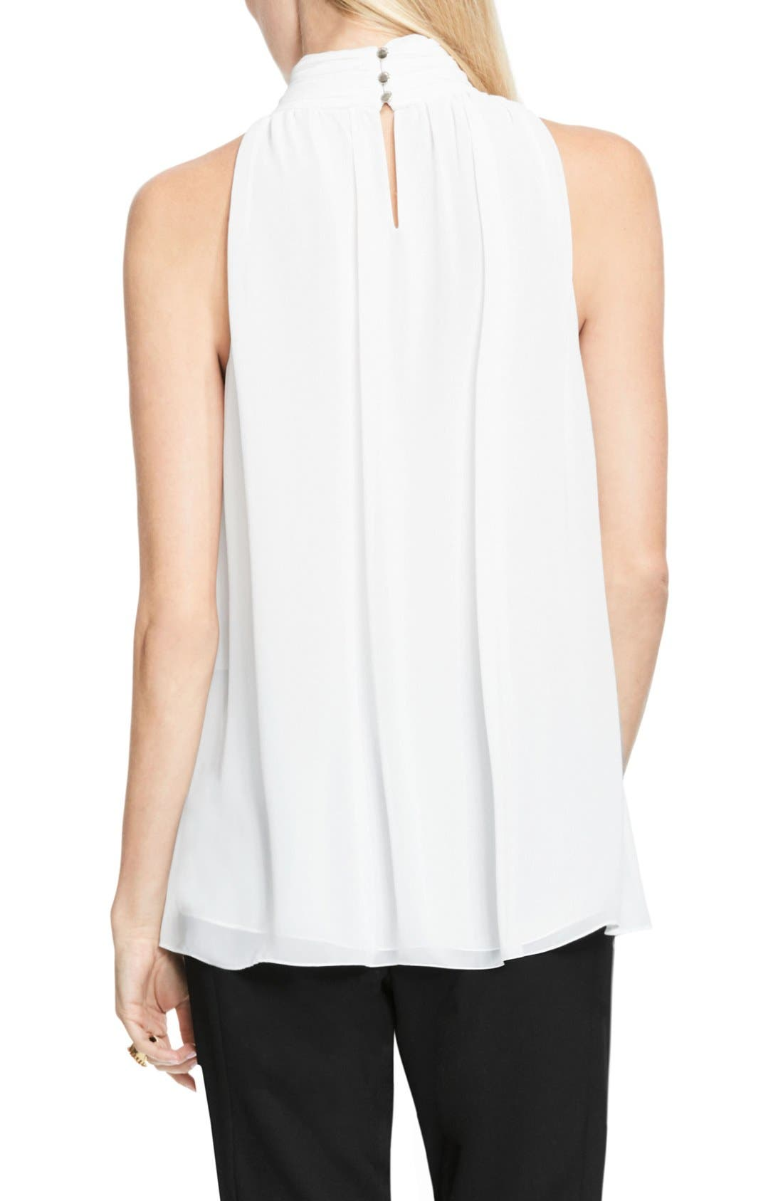 Alternate Image 3  - Vince Camuto Shirred Neck Halter Blouse