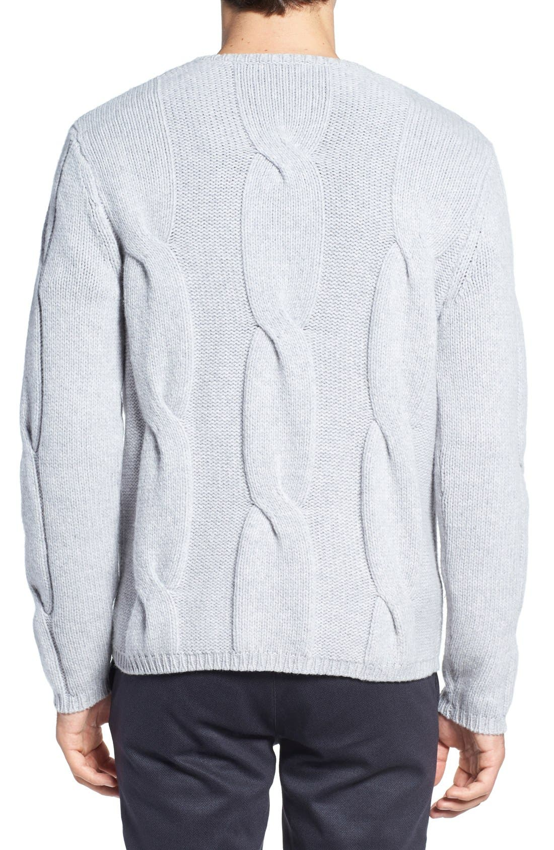 Wool & Cashmere Sweater,                             Alternate thumbnail 2, color,                             Light Grey