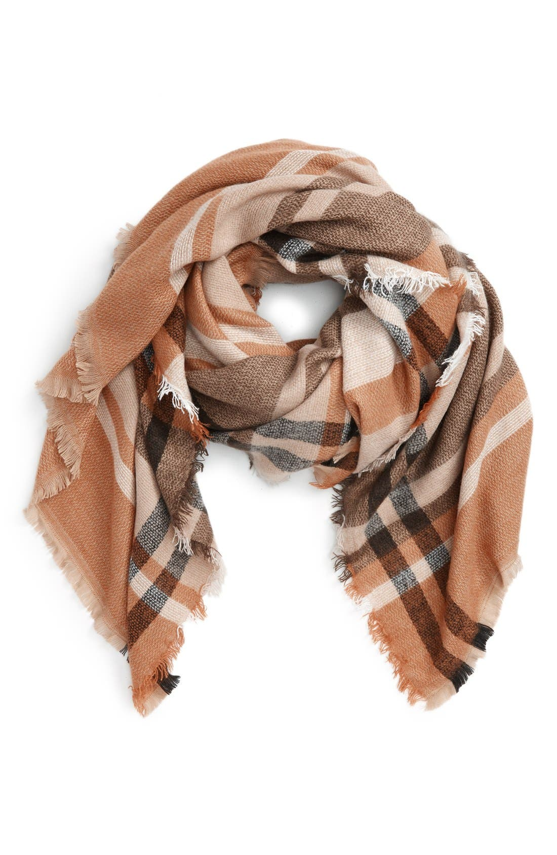 Alternate Image 1 Selected - Girly Check Square Scarf
