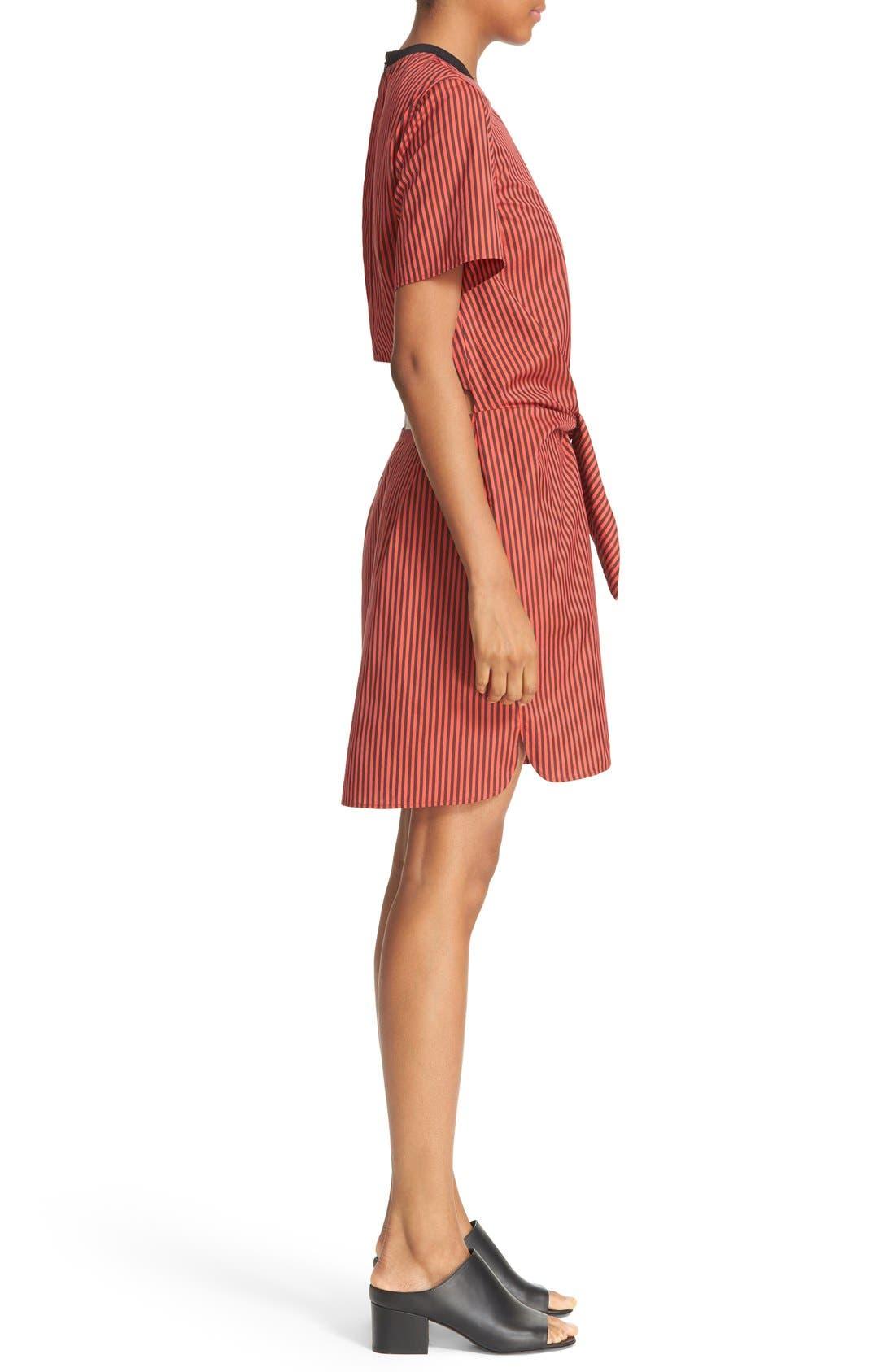 Alternate Image 3  - 3.1 Phillip Lim Stripe Poplin Tie Waist Shirtdress