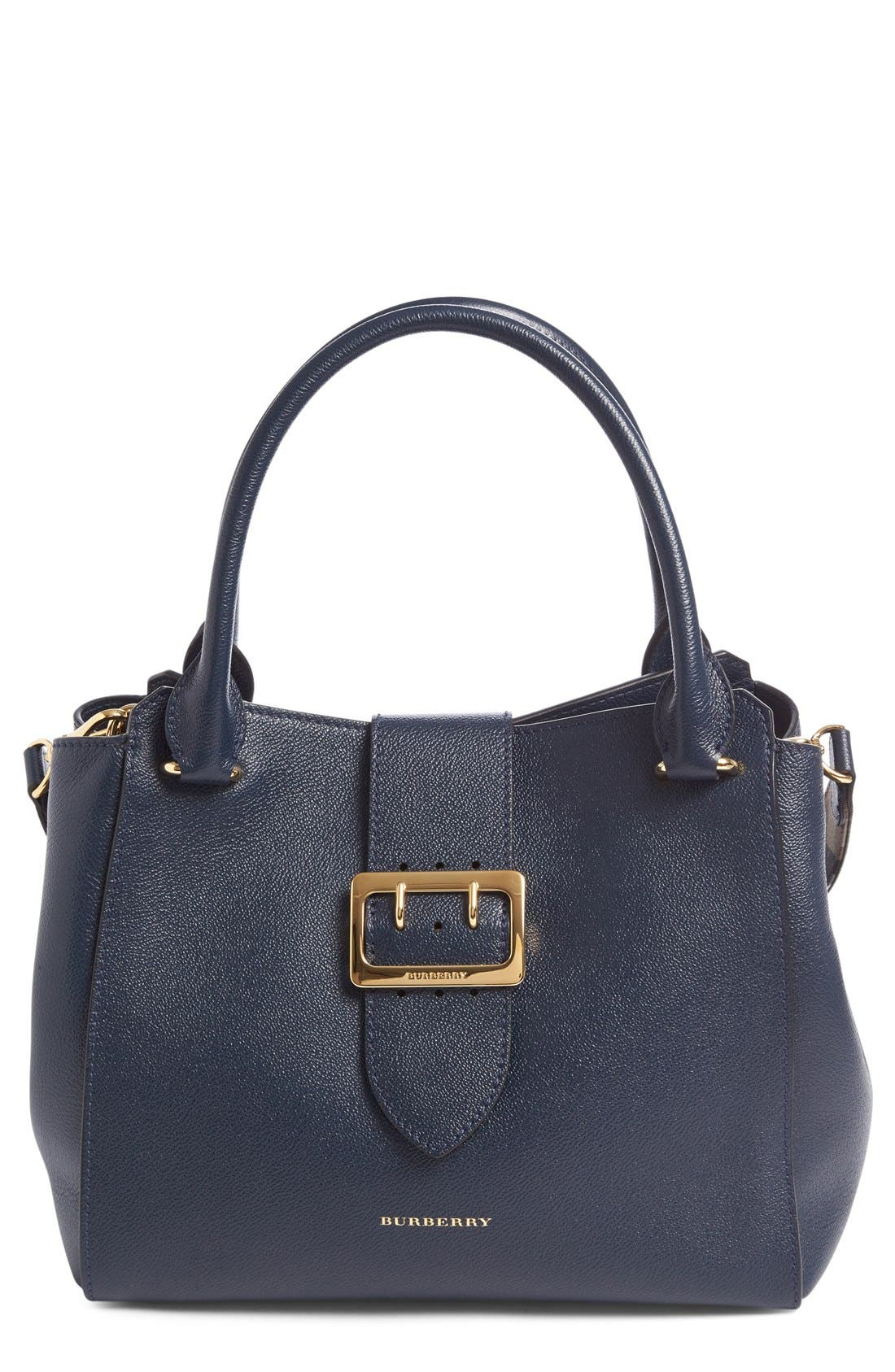 Main Image - Burberry Medium Buckle Calfskin Leather Tote