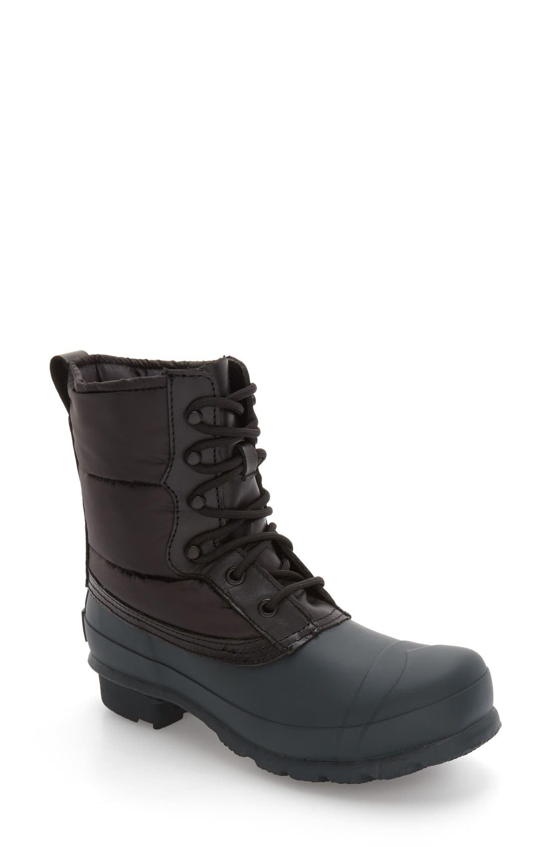 Main Image - Hunter 'Original Short' Quilted Lace-Up Boot (Women)