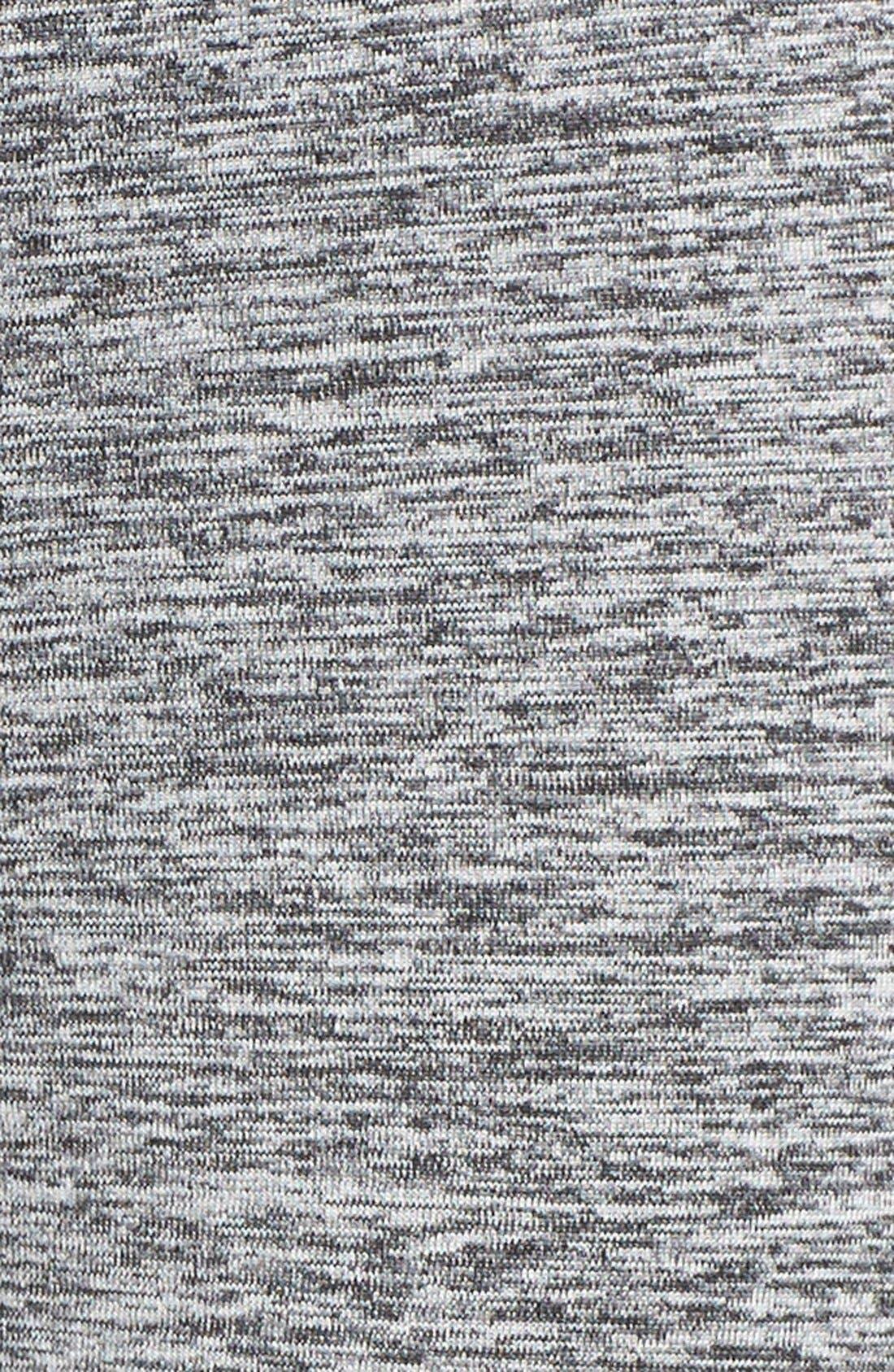 Heat It Up Reflective Running Leggings,                             Alternate thumbnail 5, color,                             Black Melange