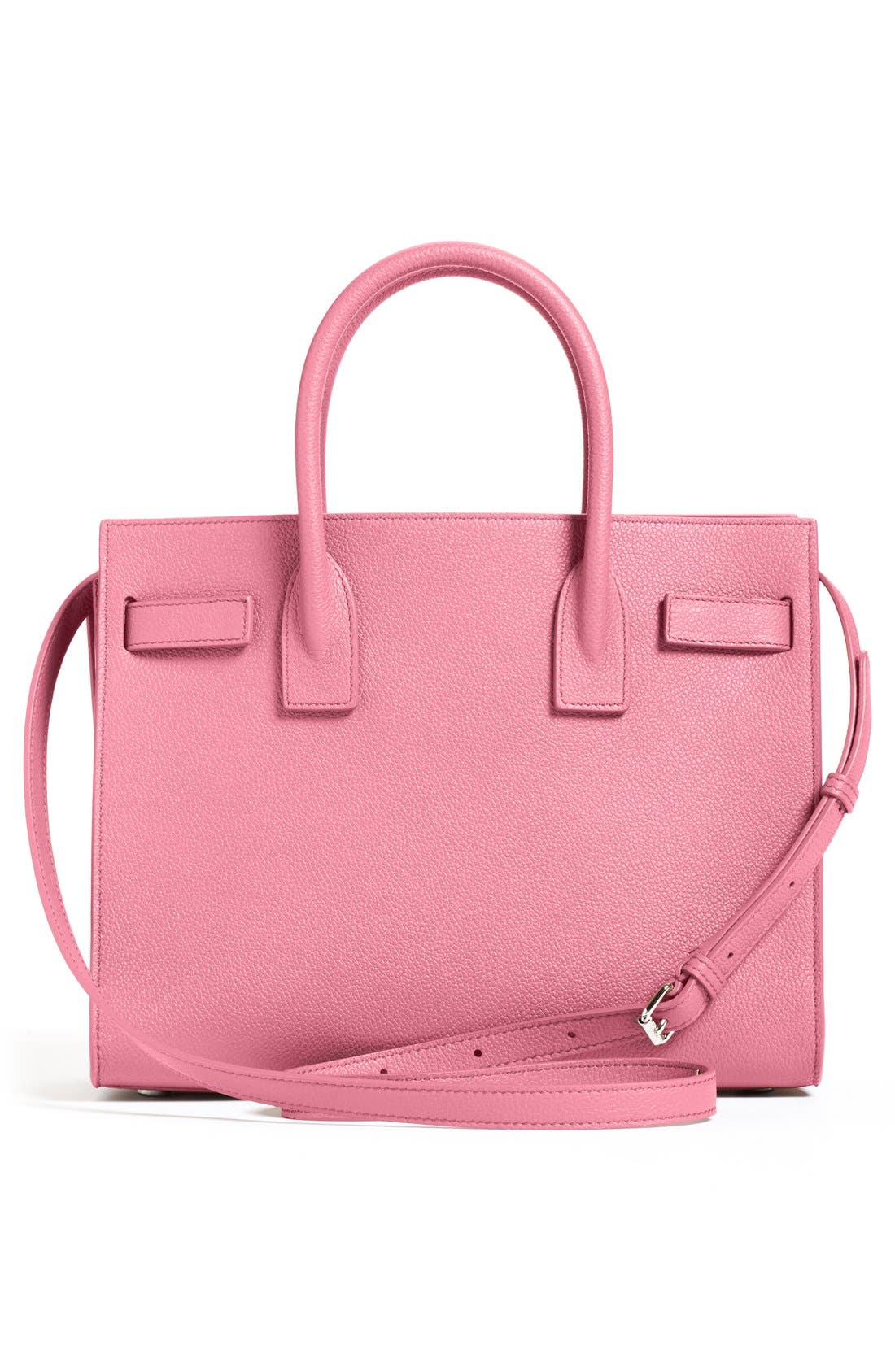 'Baby Sac de Jour' Bonded Leather Tote,                             Alternate thumbnail 3, color,                             Pink