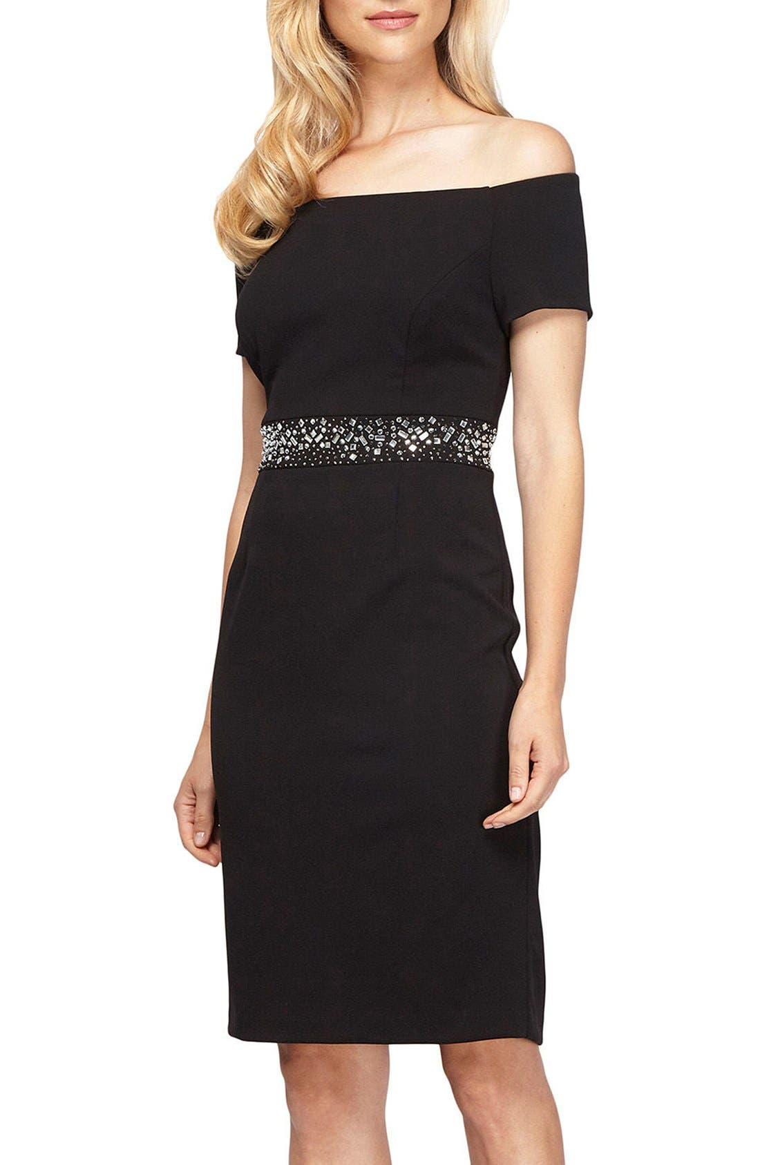 Main Image - Alex Evenings Embellished Stretch Dress