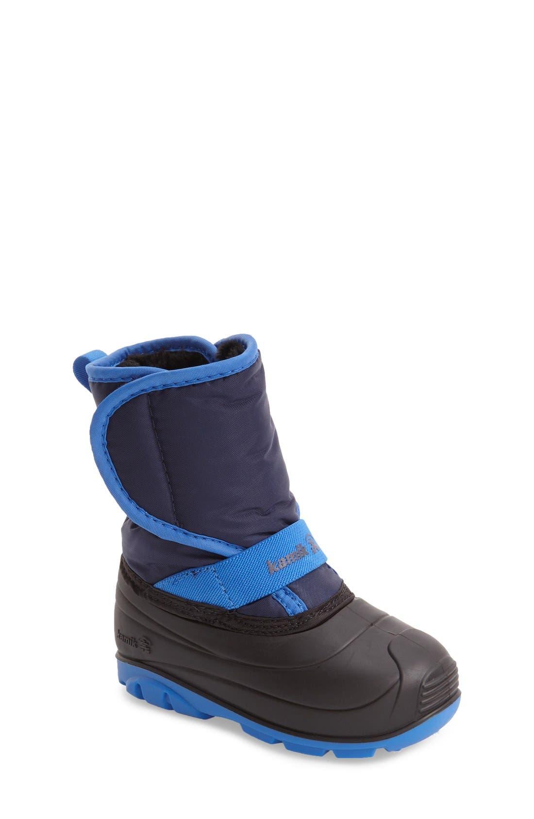 Alternate Image 1 Selected - Kamik Pika Waterproof Faux Fur Lined Snow Boot (Walker & Toddler)