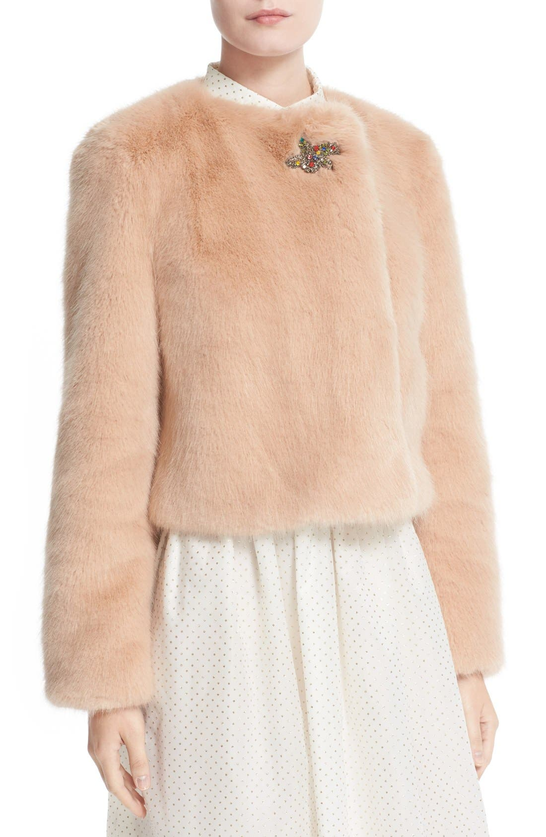Alternate Image 6  - Shrimps Muffin Faux Fur Jacket